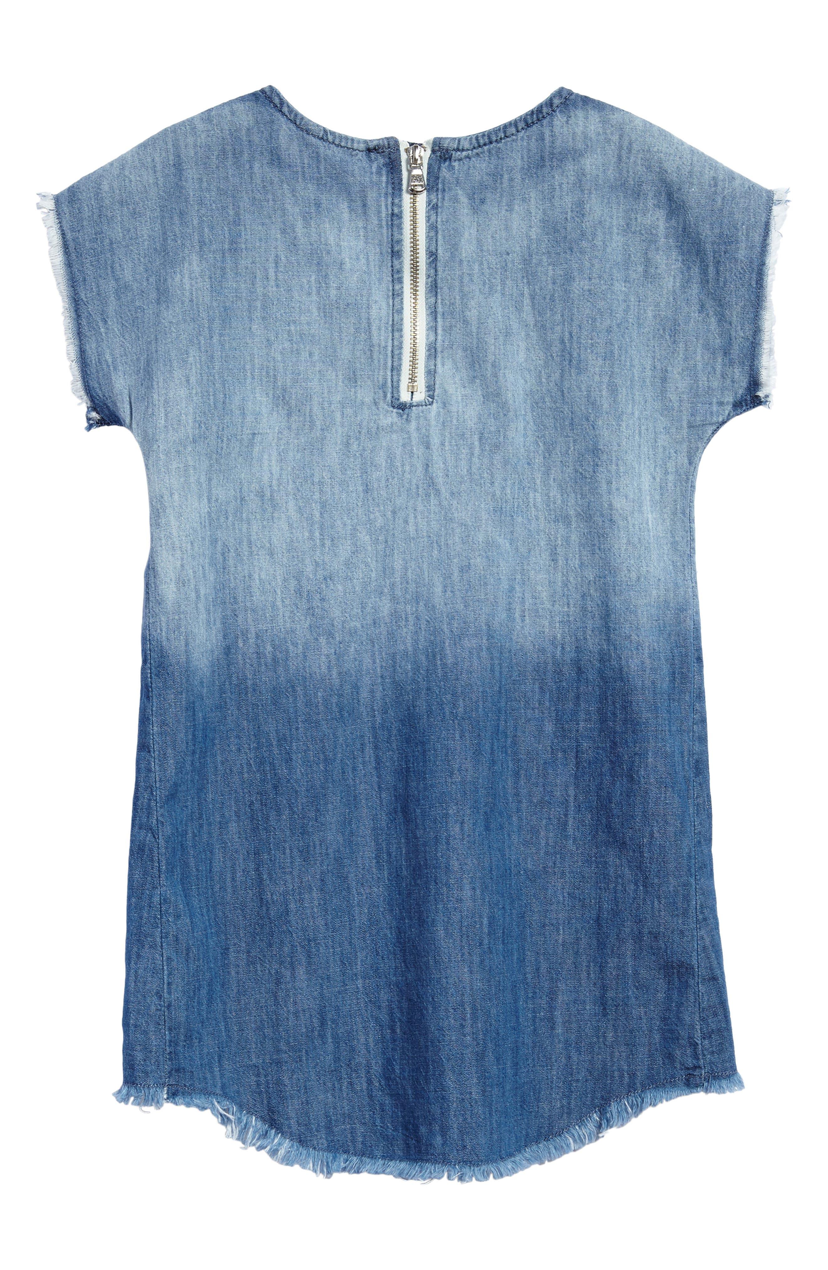 Dip Dye Chambray Dress,                             Alternate thumbnail 2, color,                             491