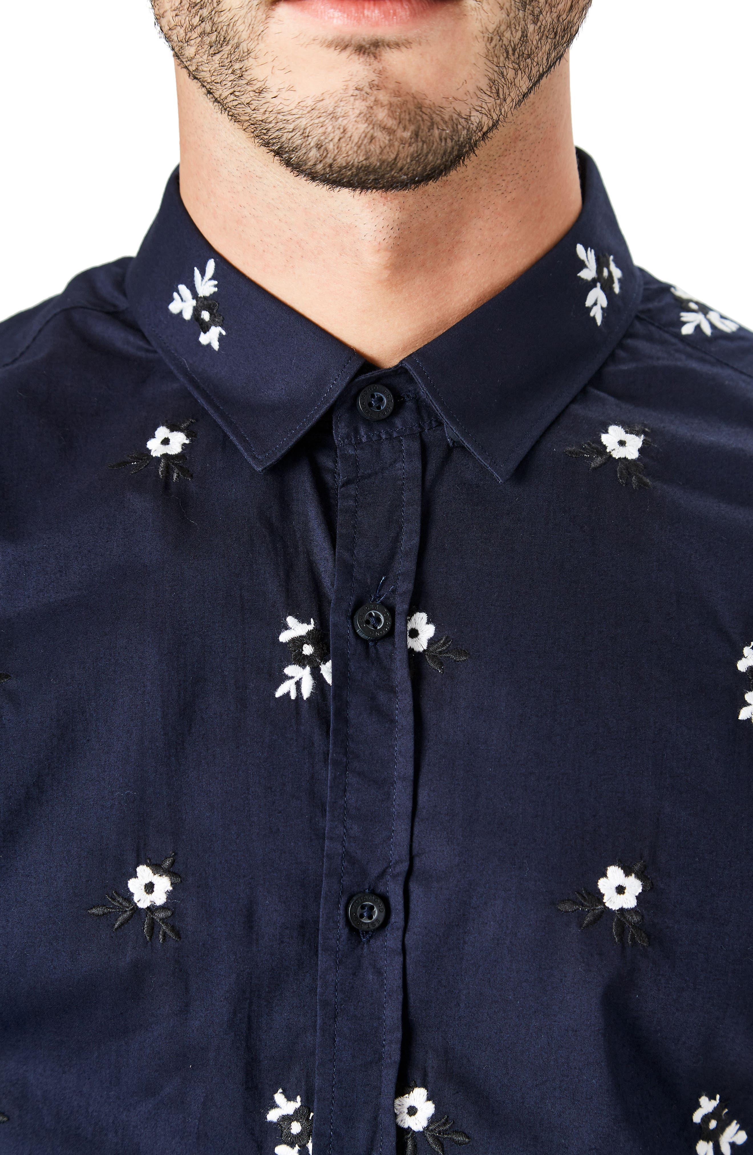 Isolator Woven Shirt,                             Alternate thumbnail 4, color,                             NAVY