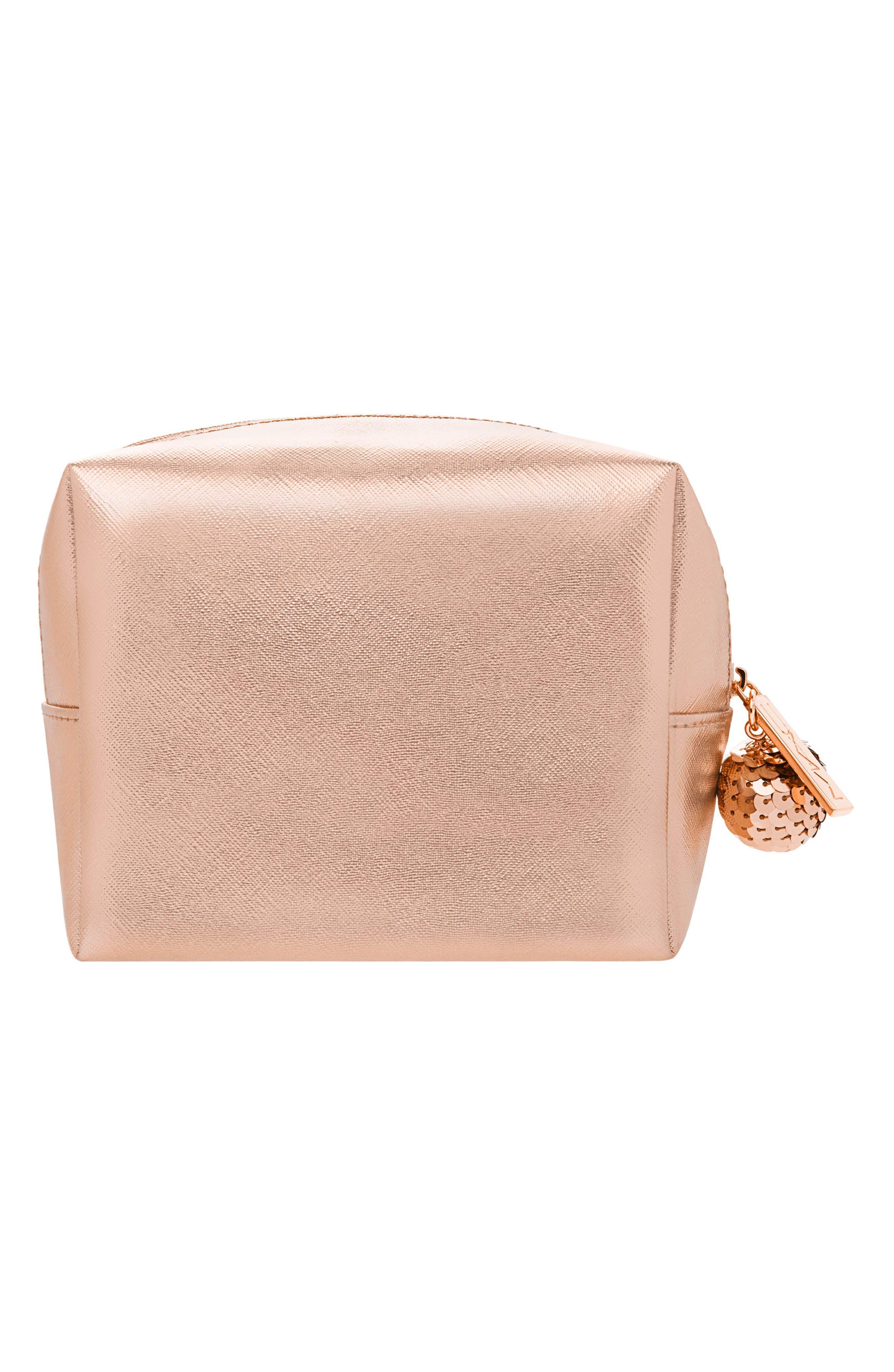 MAC Snow Ball Rose Gold Eye & Lip Bag,                             Alternate thumbnail 2, color,                             710