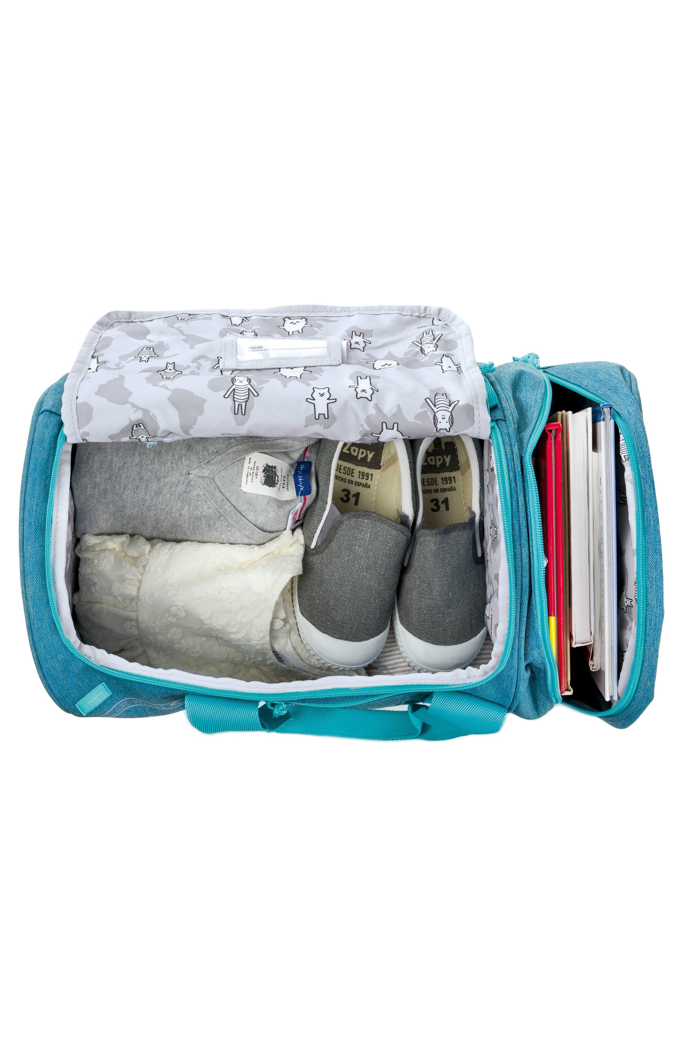 Mini About Friends Duffel Bag,                             Alternate thumbnail 3, color,                             MELANGE BLUE