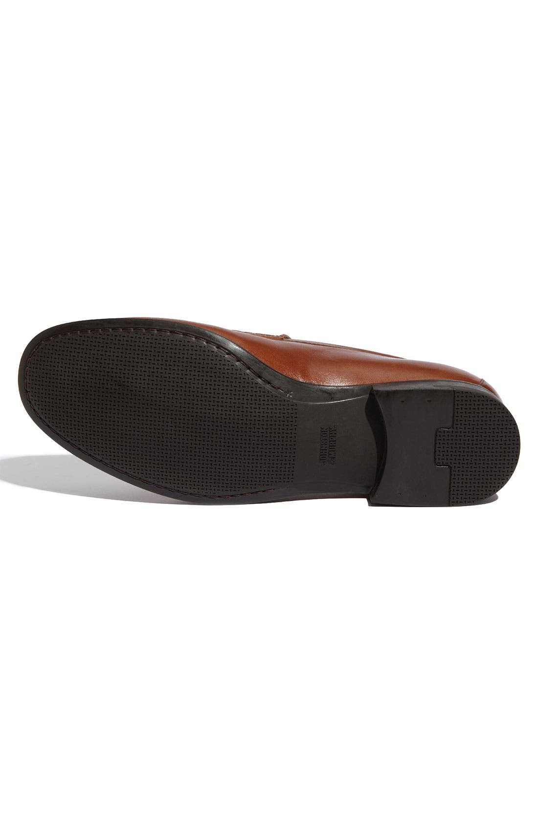JOHNSTON & MURPHY,                             'Creswell' Venetian Slip-On,                             Alternate thumbnail 4, color,                             COGNAC