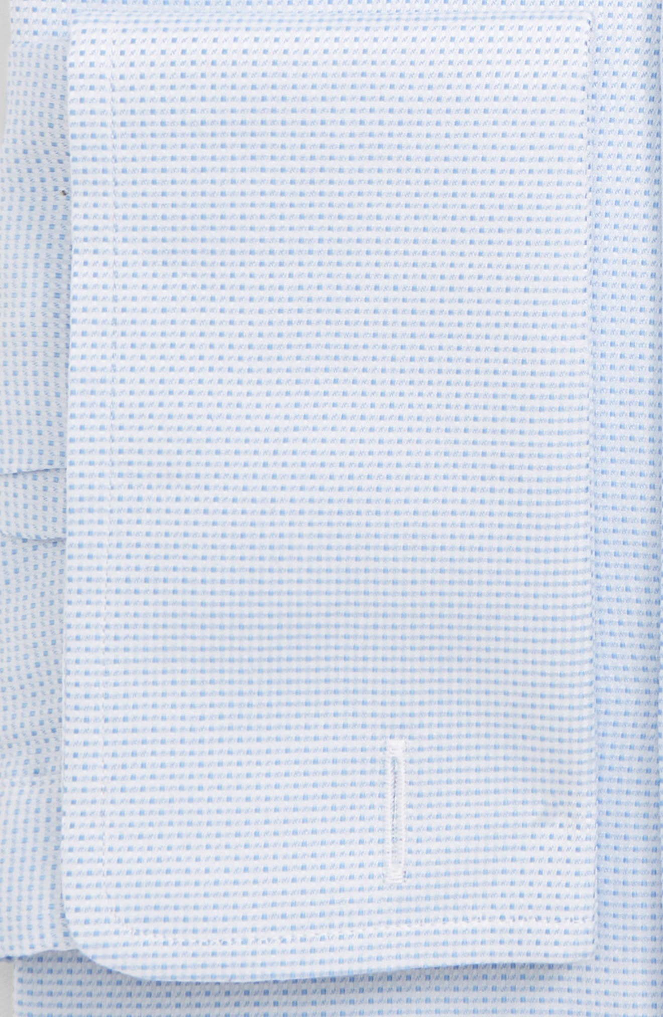 Trim Fit Dot Dress Shirt,                             Alternate thumbnail 2, color,                             SKY
