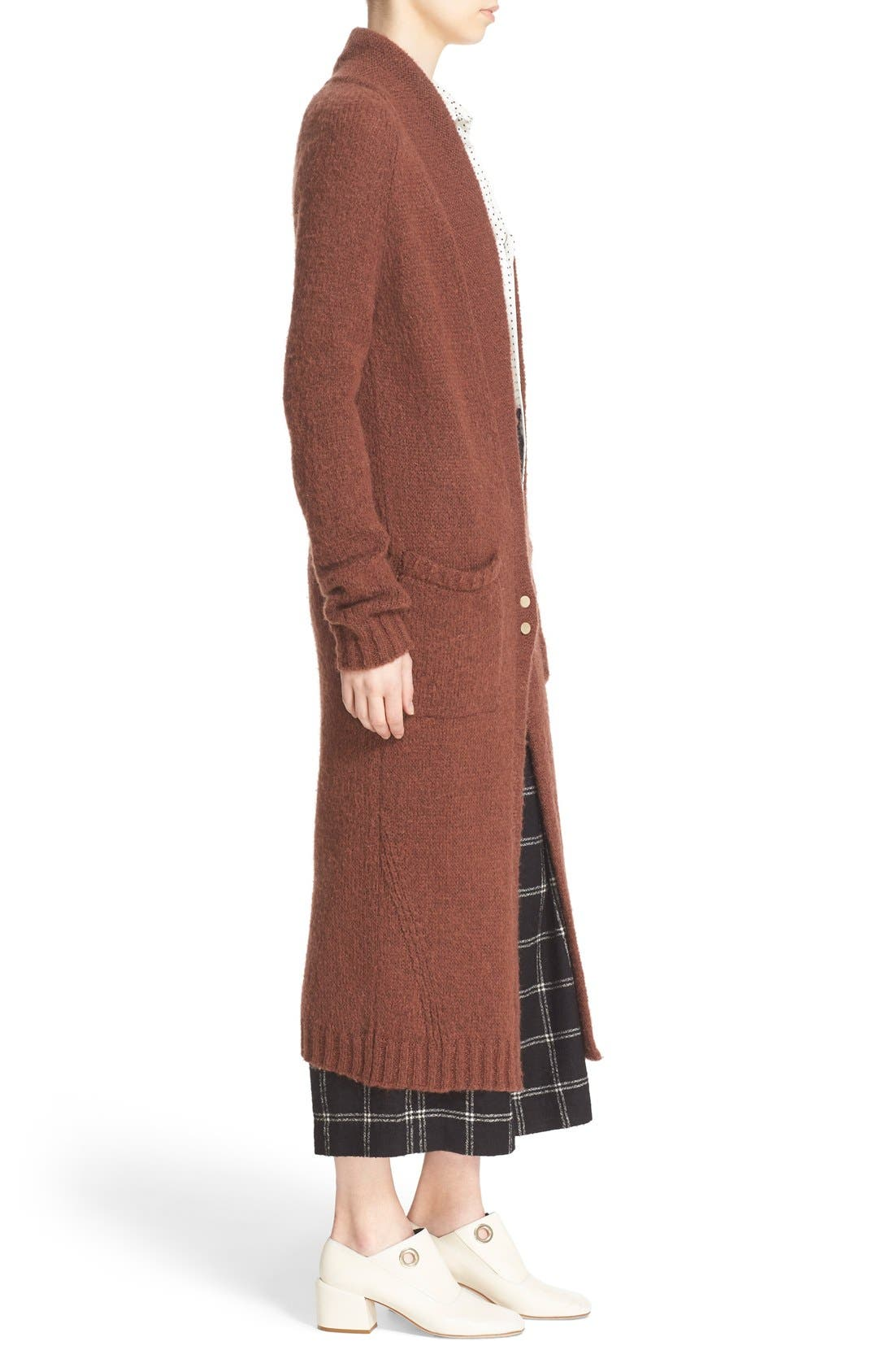 Two-Button Long Cardigan,                             Alternate thumbnail 4, color,                             200