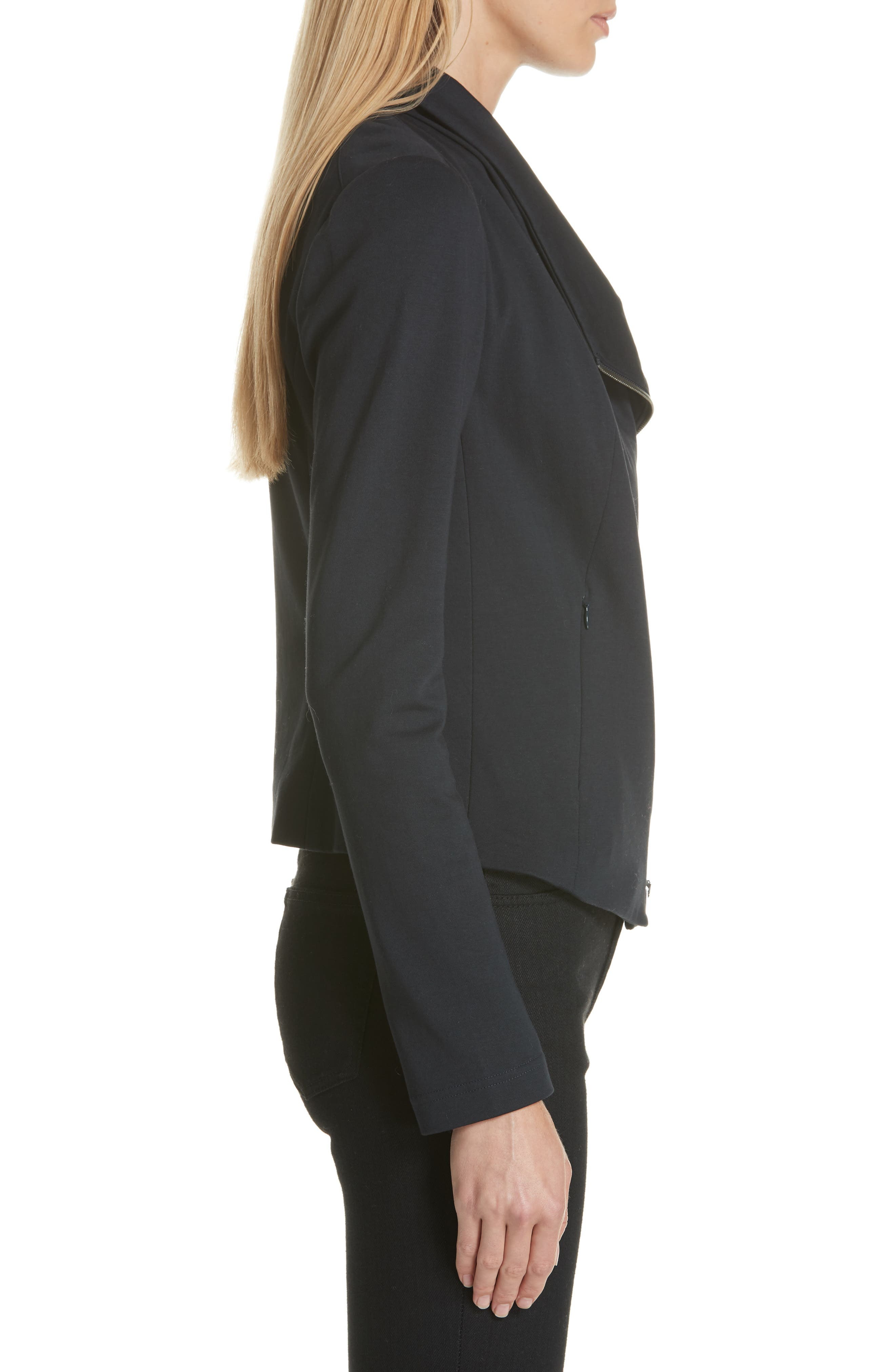 High Collar Fitted Jacket,                             Alternate thumbnail 3, color,                             410