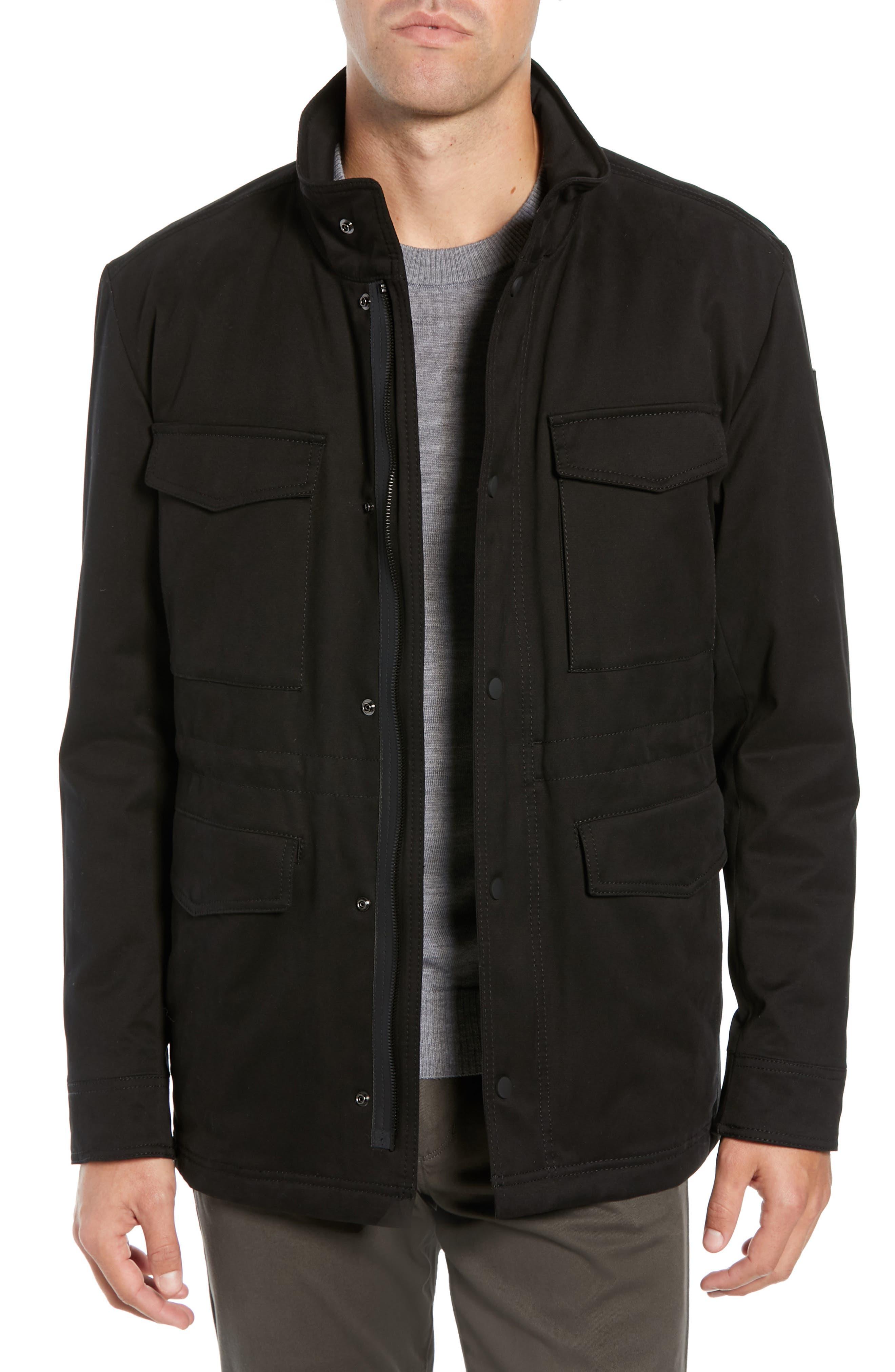 Oroy Regular Fit Field Jacket,                             Main thumbnail 1, color,                             BLACK
