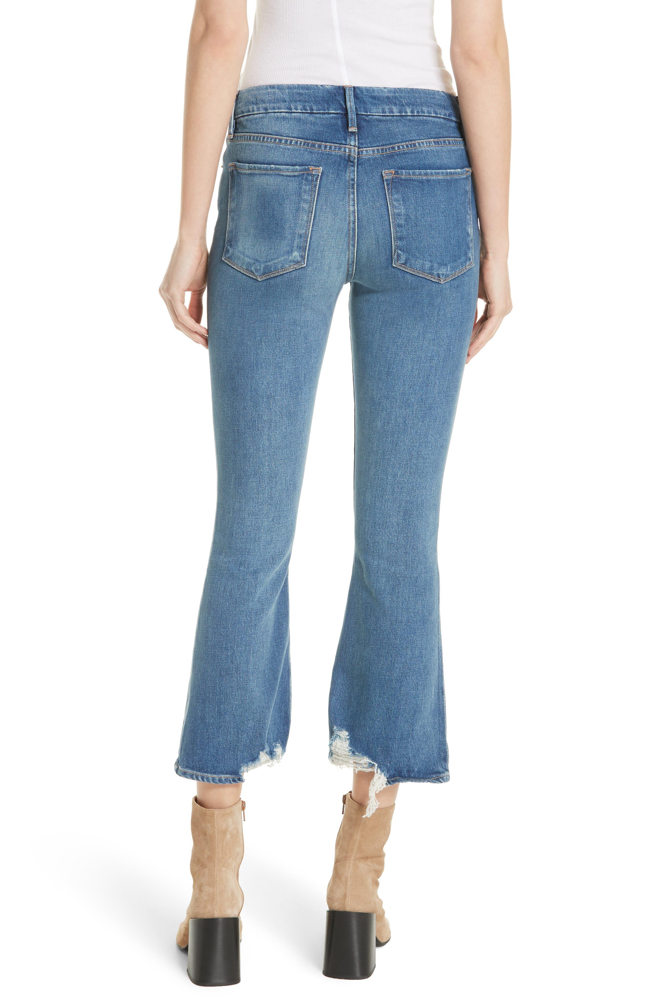 Le Crop Mini Boot Raw Hem Jeans,                             Alternate thumbnail 2, color,                             CLAPPSON