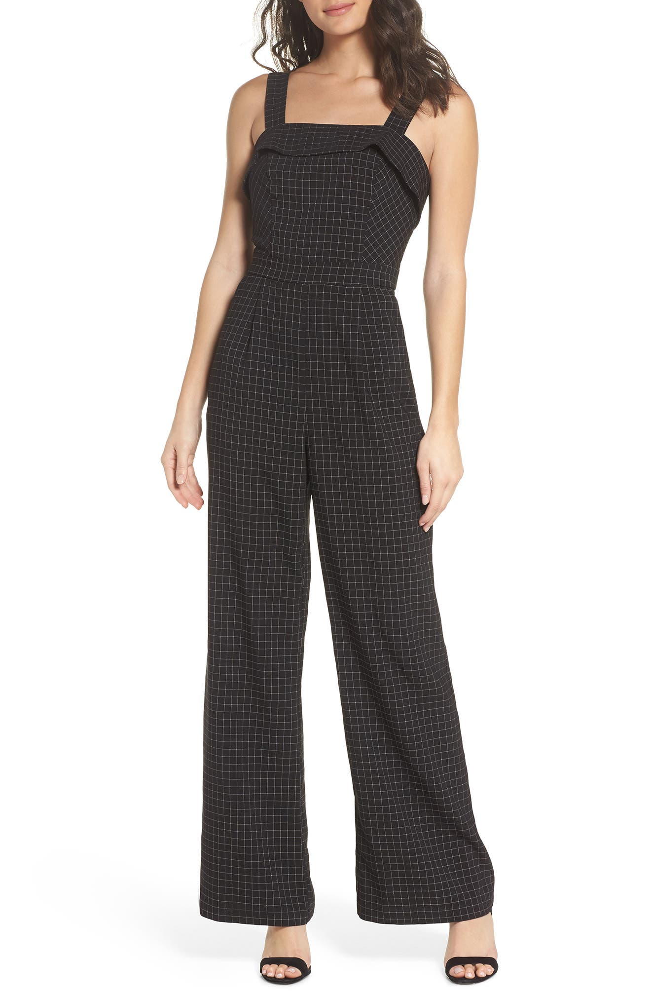 Lilah Plaid Jumpsuit,                             Main thumbnail 1, color,