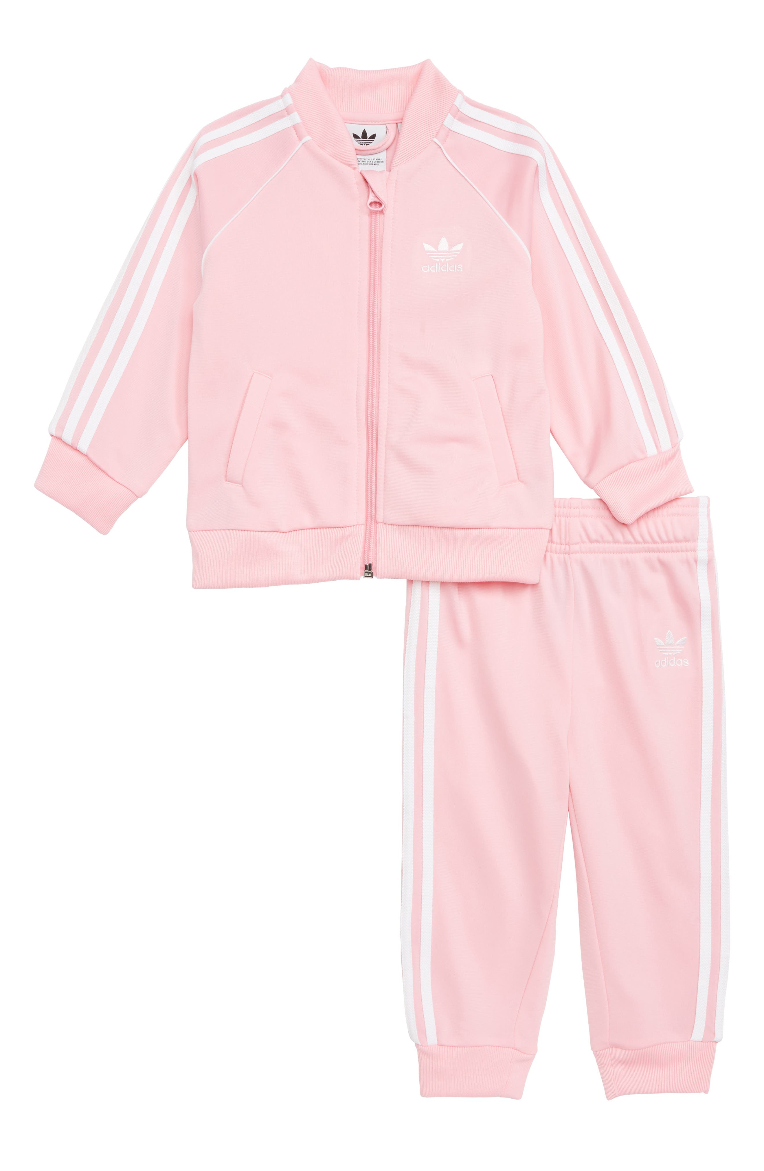 Superstar Track Jacket & Pants Gift Set,                             Main thumbnail 1, color,                             PINK/ WHITE
