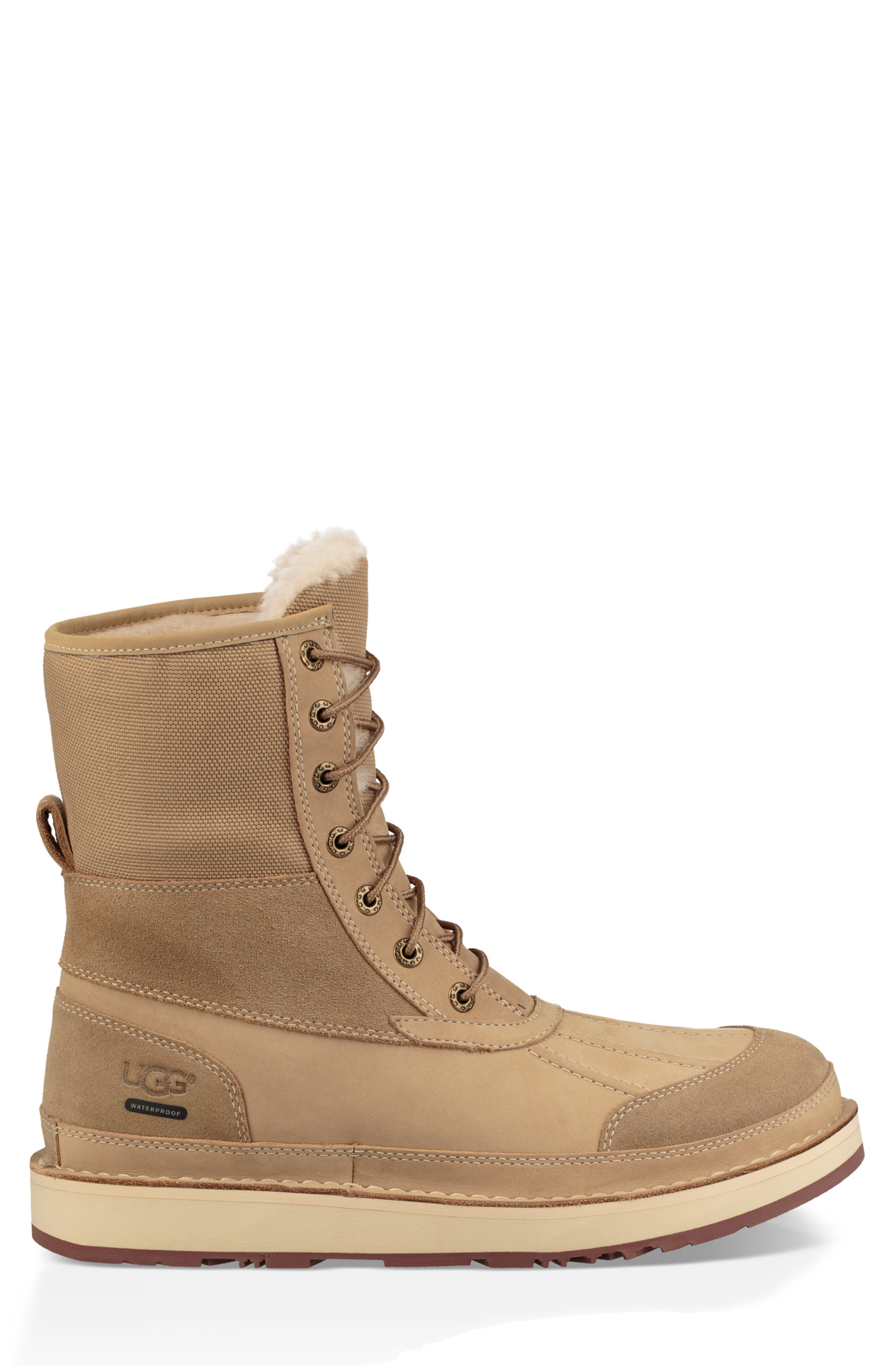 Avalanche Butte Waterproof Boot,                             Alternate thumbnail 4, color,                             DESERT TAN