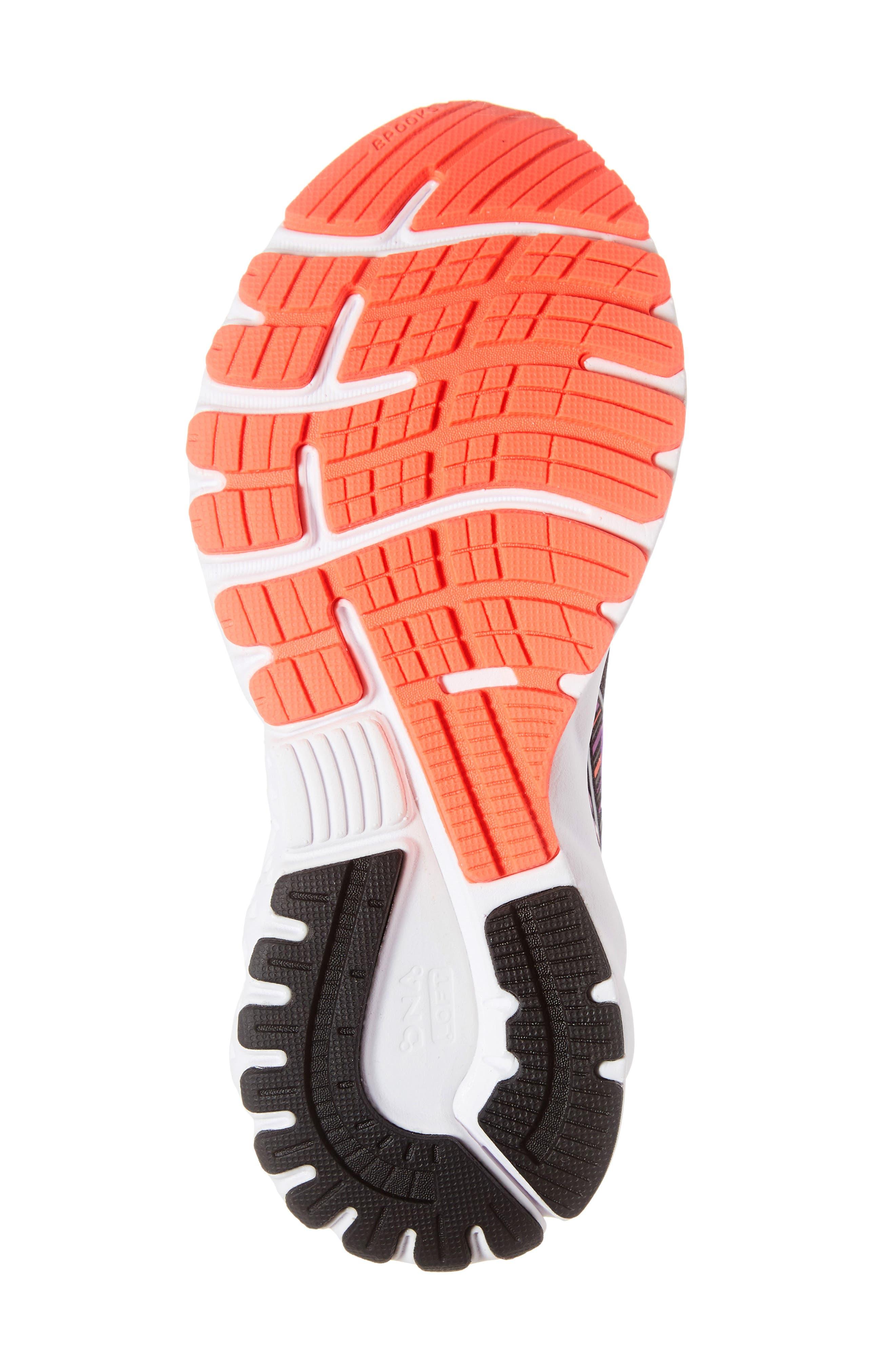 Adrenaline GTS 19 Running Shoe,                             Alternate thumbnail 6, color,                             BLACK/ PURPLE/ CORAL