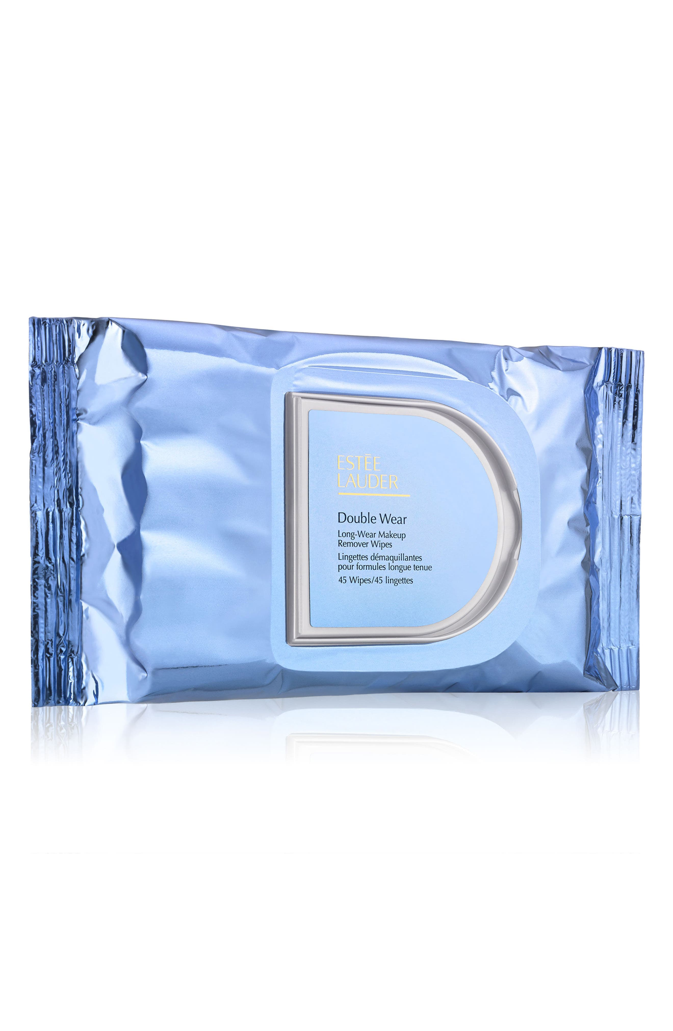 Double Wear Long-Wear Makeup Remover Wipes,                             Main thumbnail 1, color,                             NO COLOR