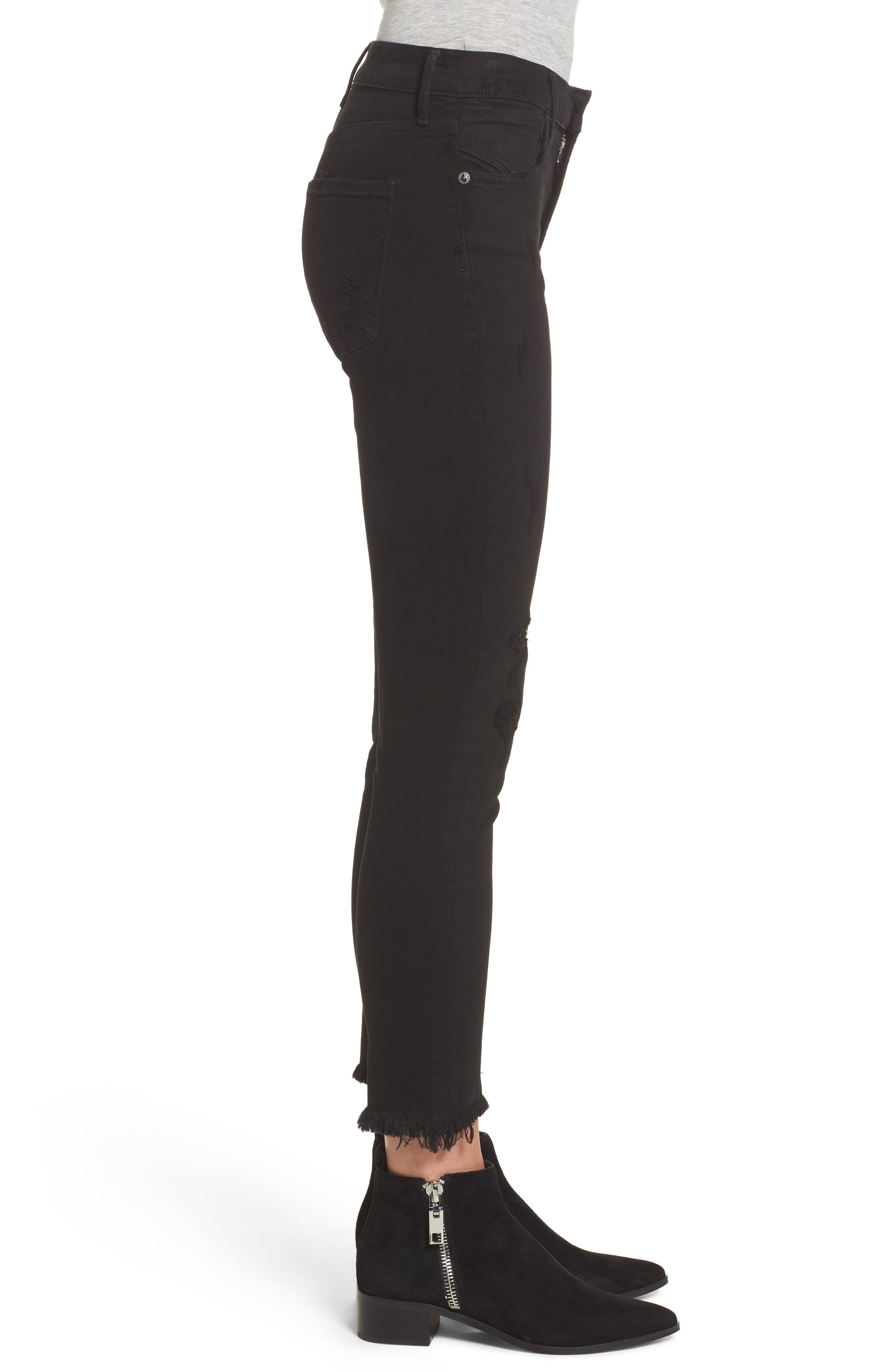 Sophie Crop High Rise Skinny Jeans,                             Alternate thumbnail 3, color,                             HARLOW DESTRUCT