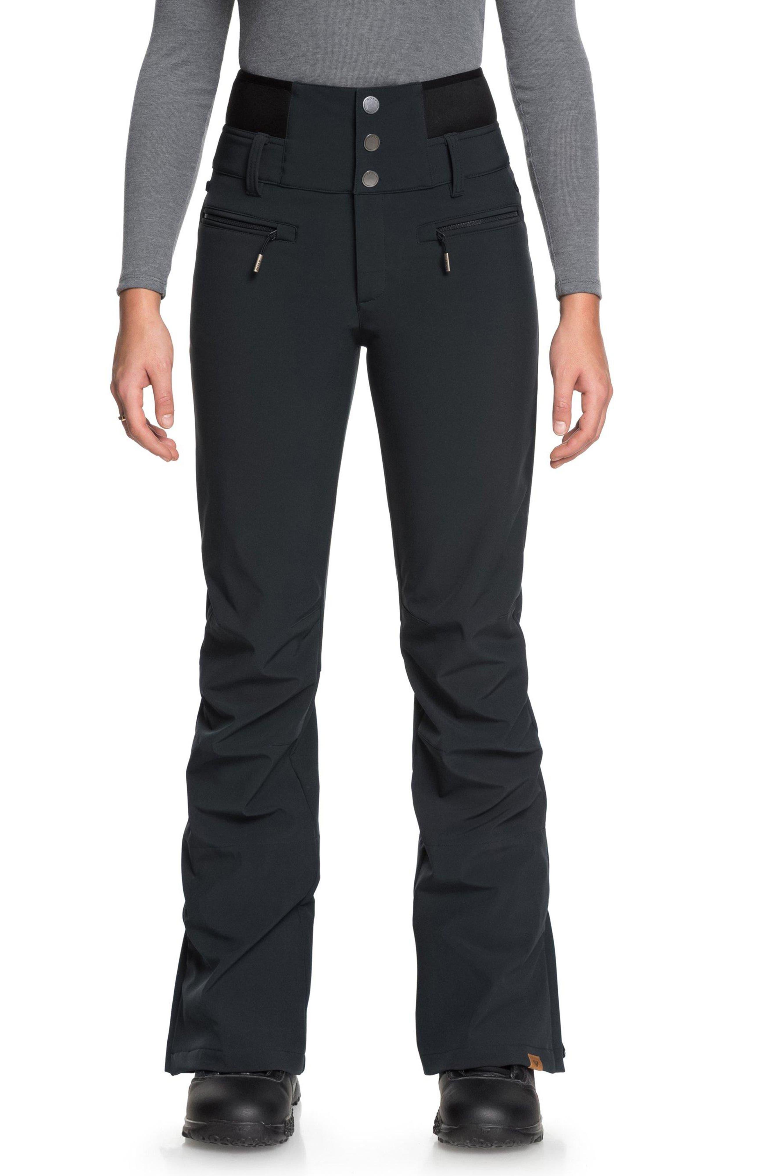 Rising High Snow Pants,                         Main,                         color, TRUE BLACK