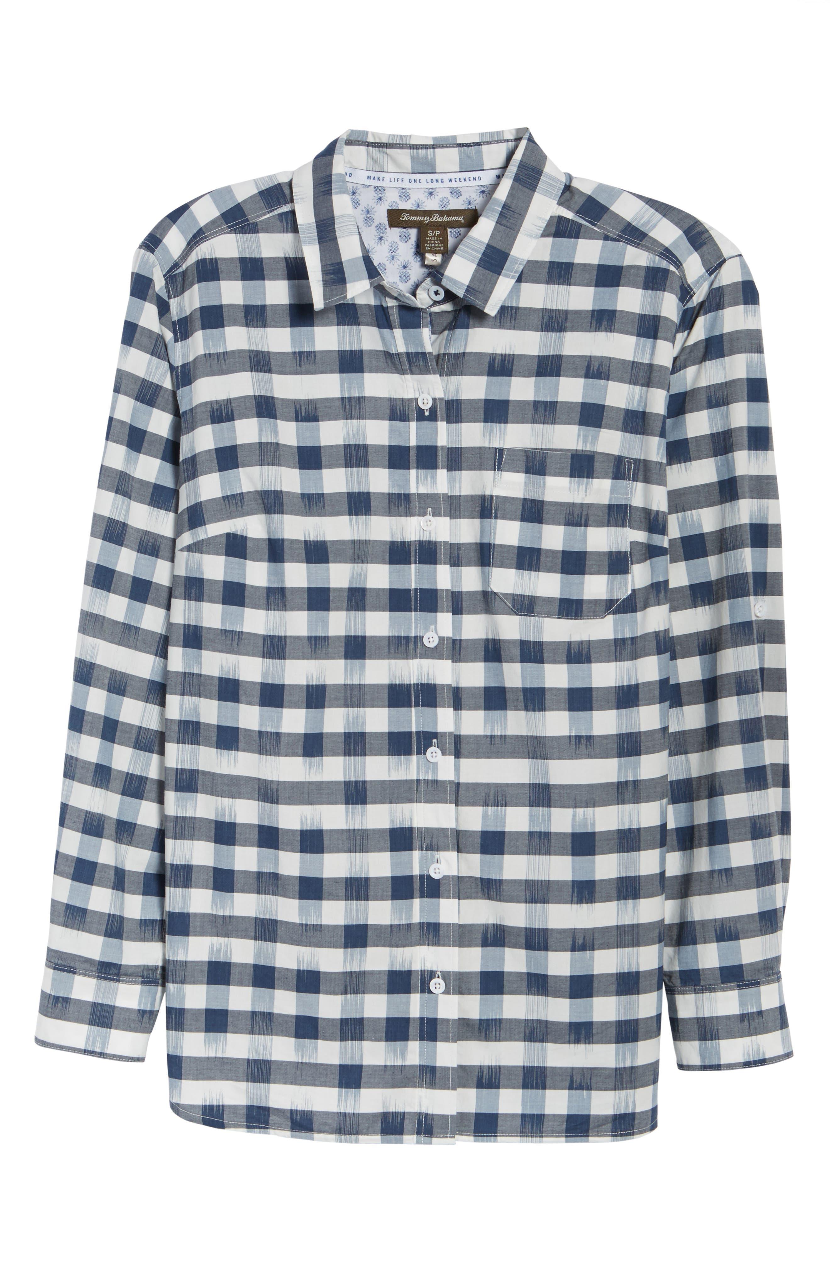Fragmented Gingham Shirt,                             Alternate thumbnail 6, color,                             400