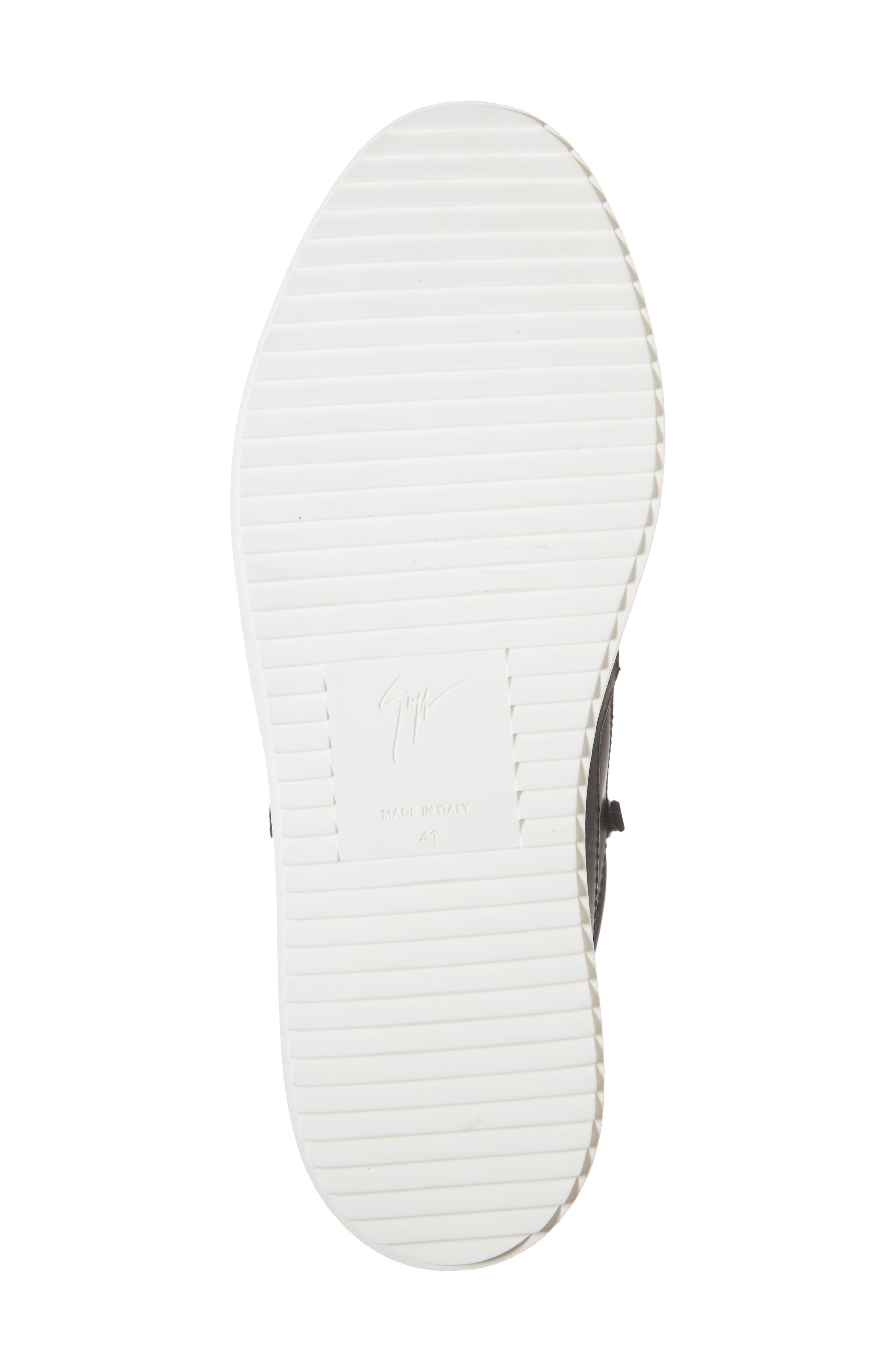 Mid-Top Sneaker,                             Alternate thumbnail 6, color,                             NERO