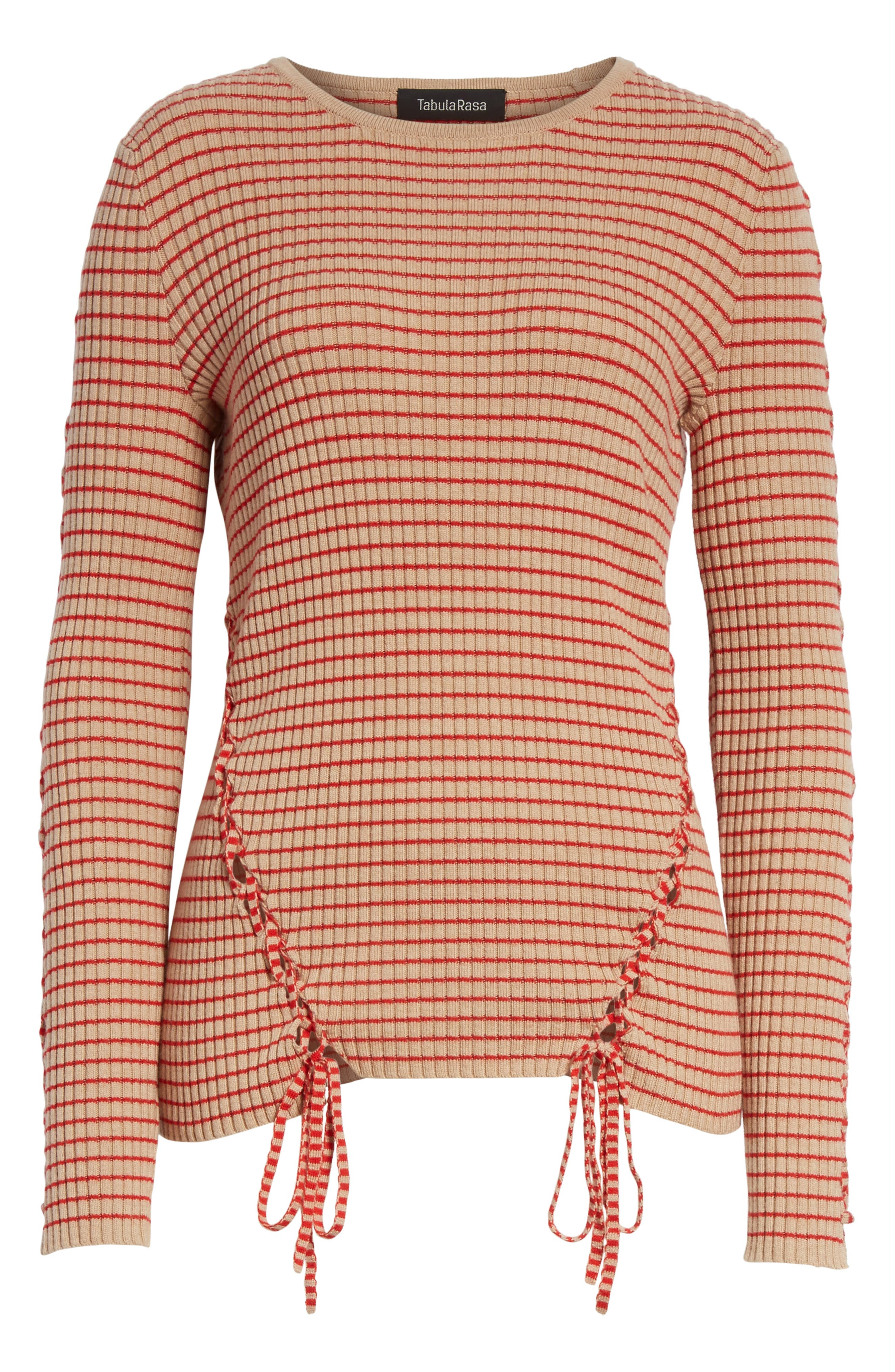 Palos Lace-Up Stretch Wool Top,                             Alternate thumbnail 6, color,                             250