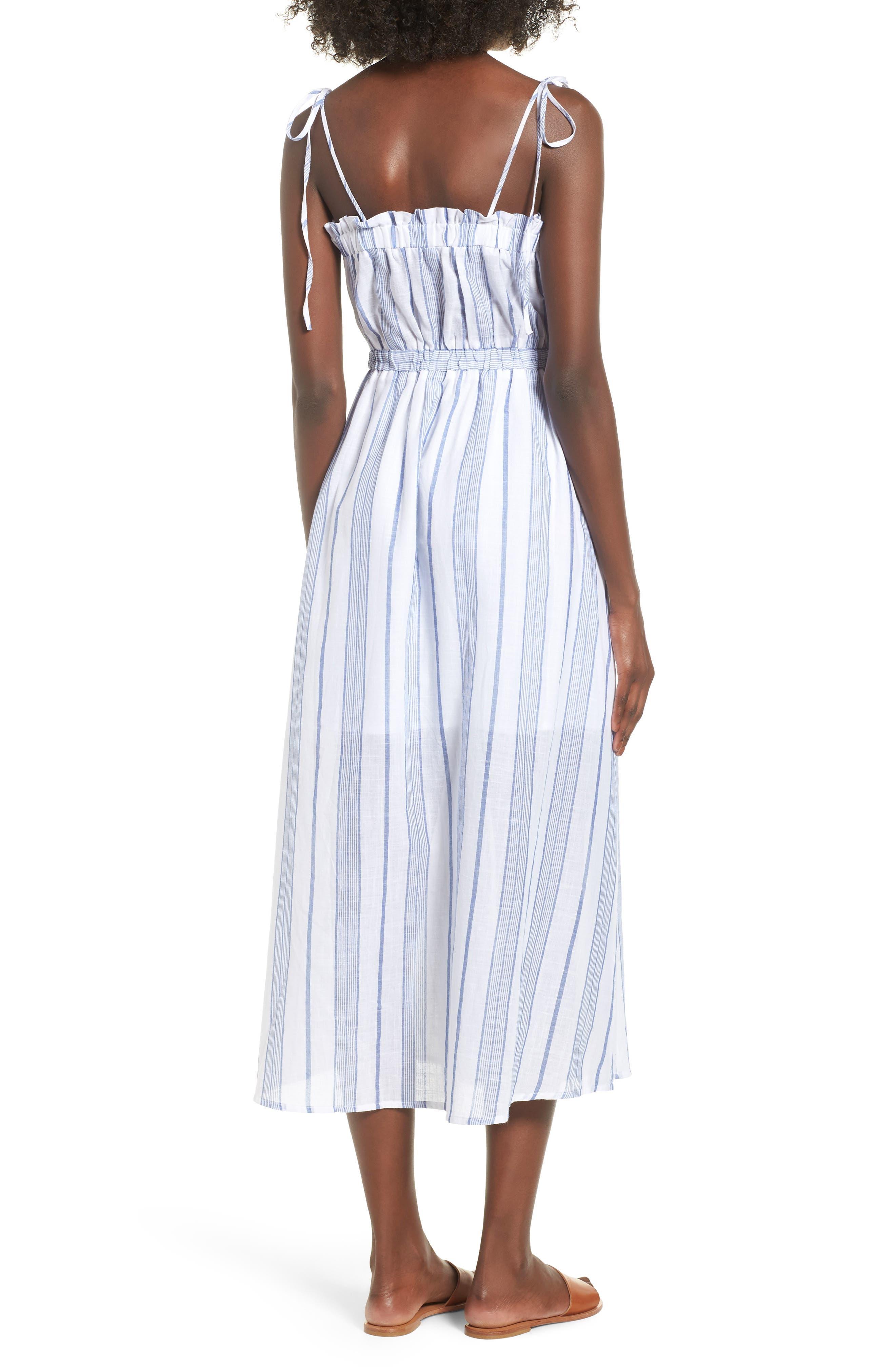 Stripe Tie Strap Dress,                             Alternate thumbnail 2, color,                             SKY STRIPE