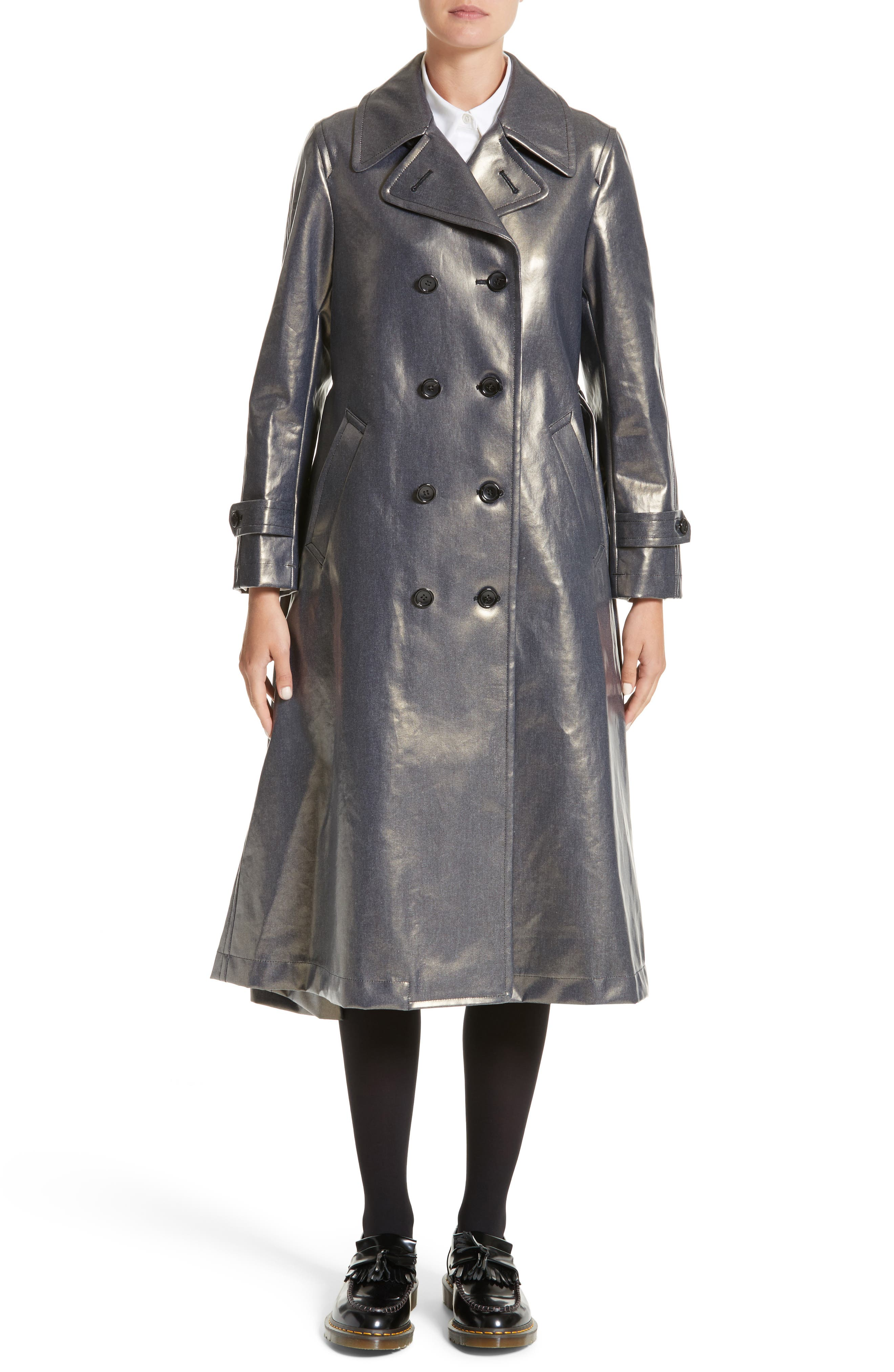 Double Breasted Coat,                         Main,                         color, 400