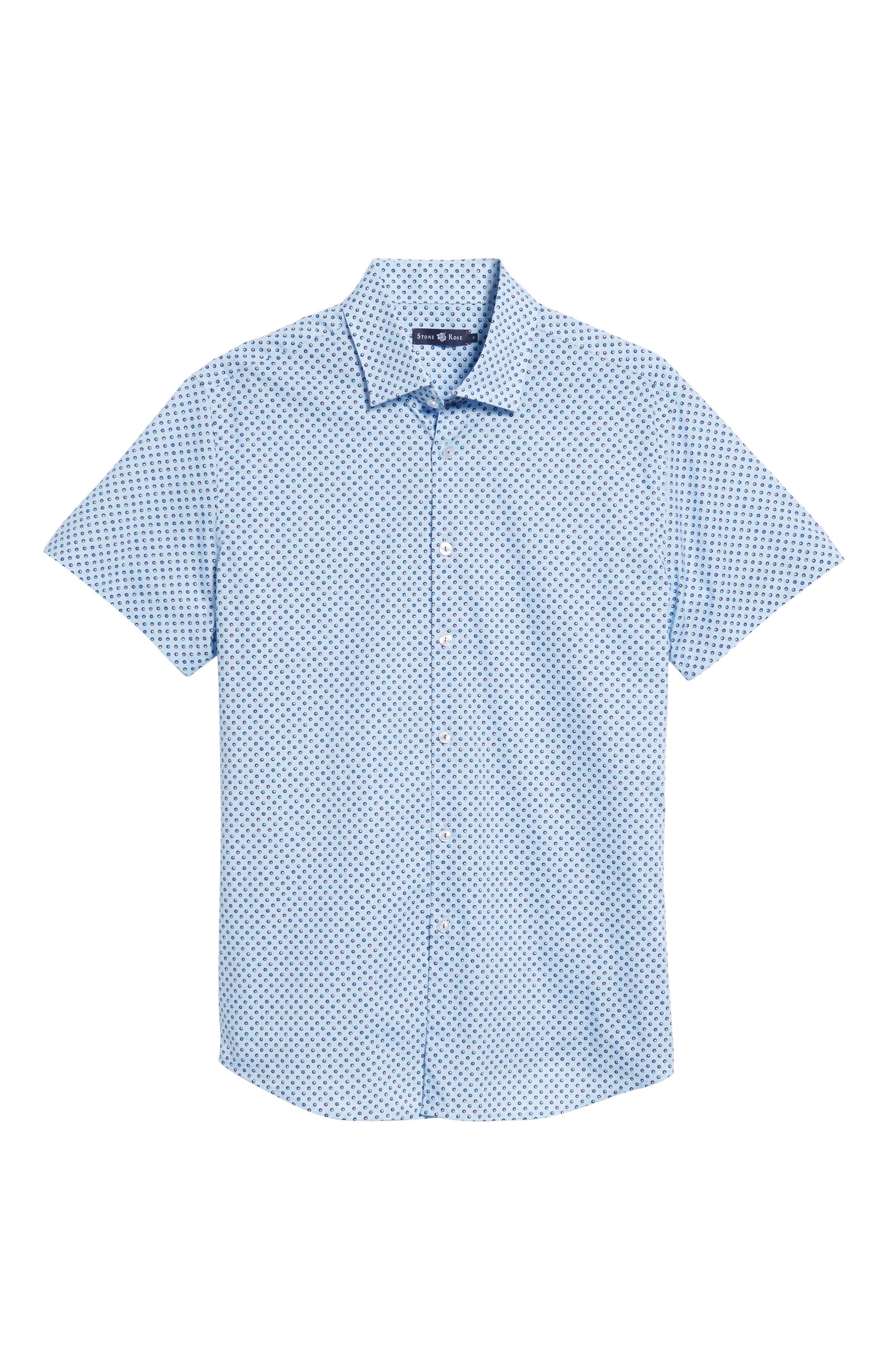 Trim Fit Circle Print Sport Shirt,                             Alternate thumbnail 6, color,                             450