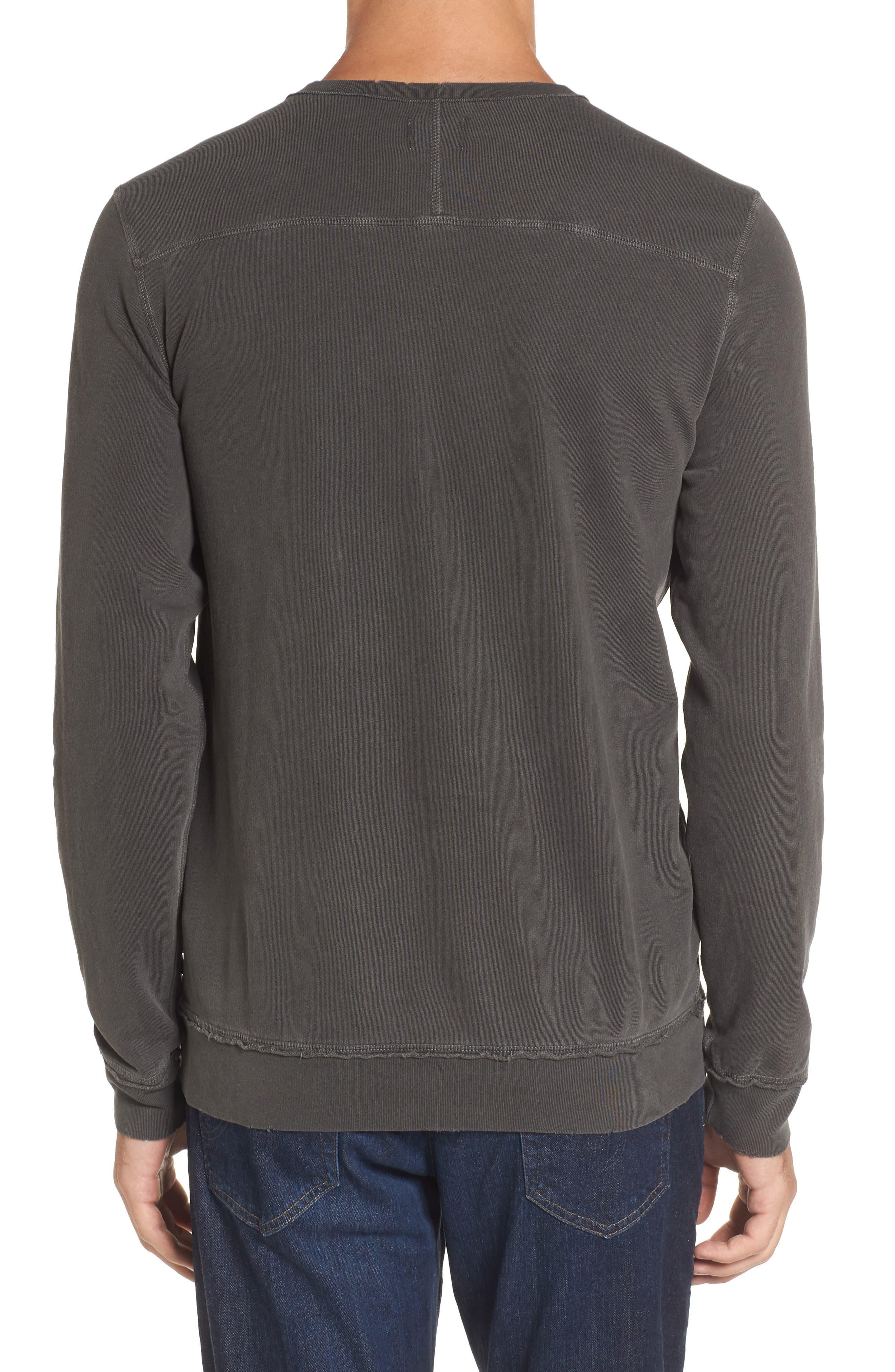 Brendan Raw Edge Crewneck Sweatshirt,                             Alternate thumbnail 2, color,                             001