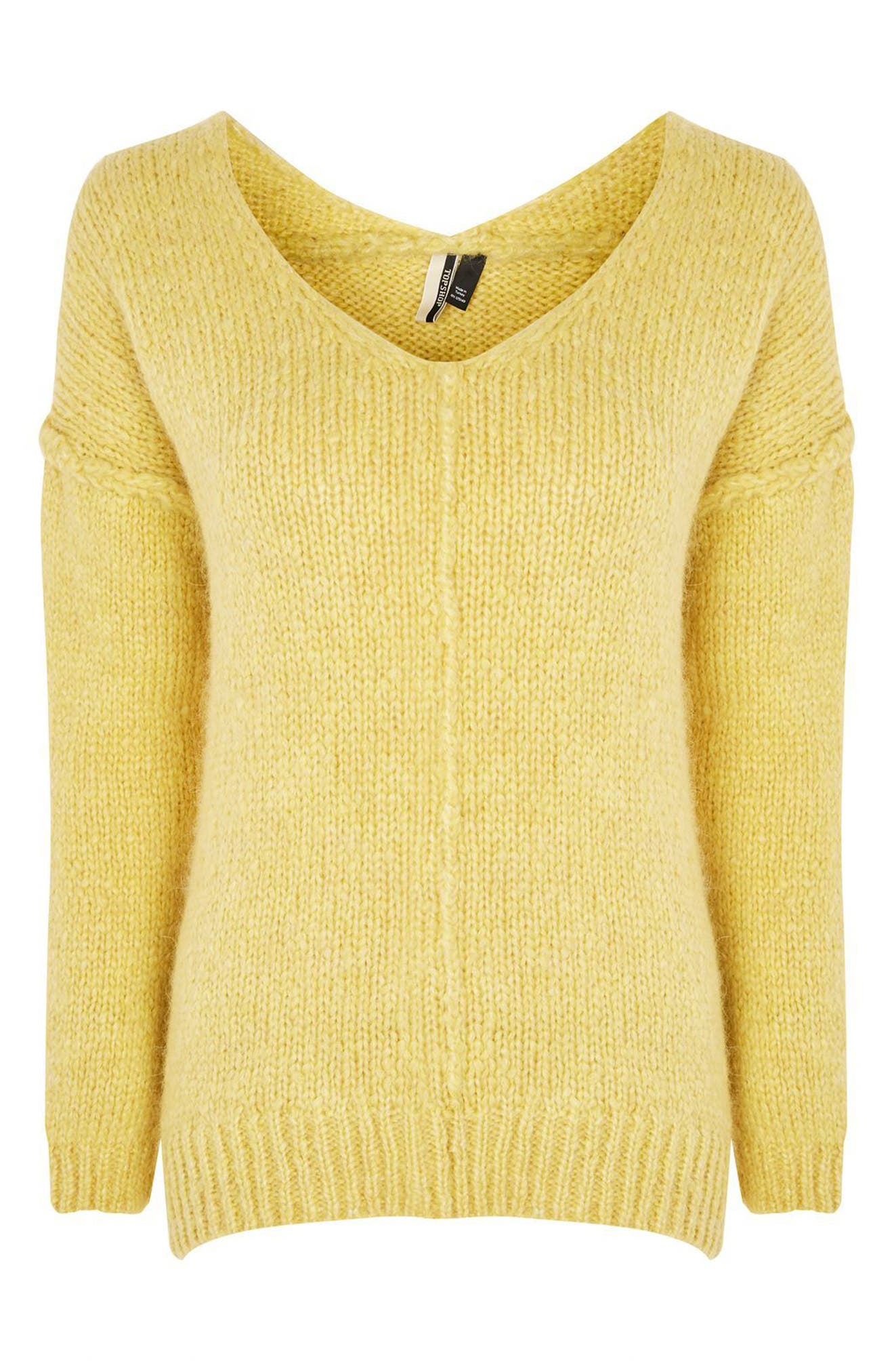 Oversize V-Neck Sweater,                             Alternate thumbnail 3, color,                             700
