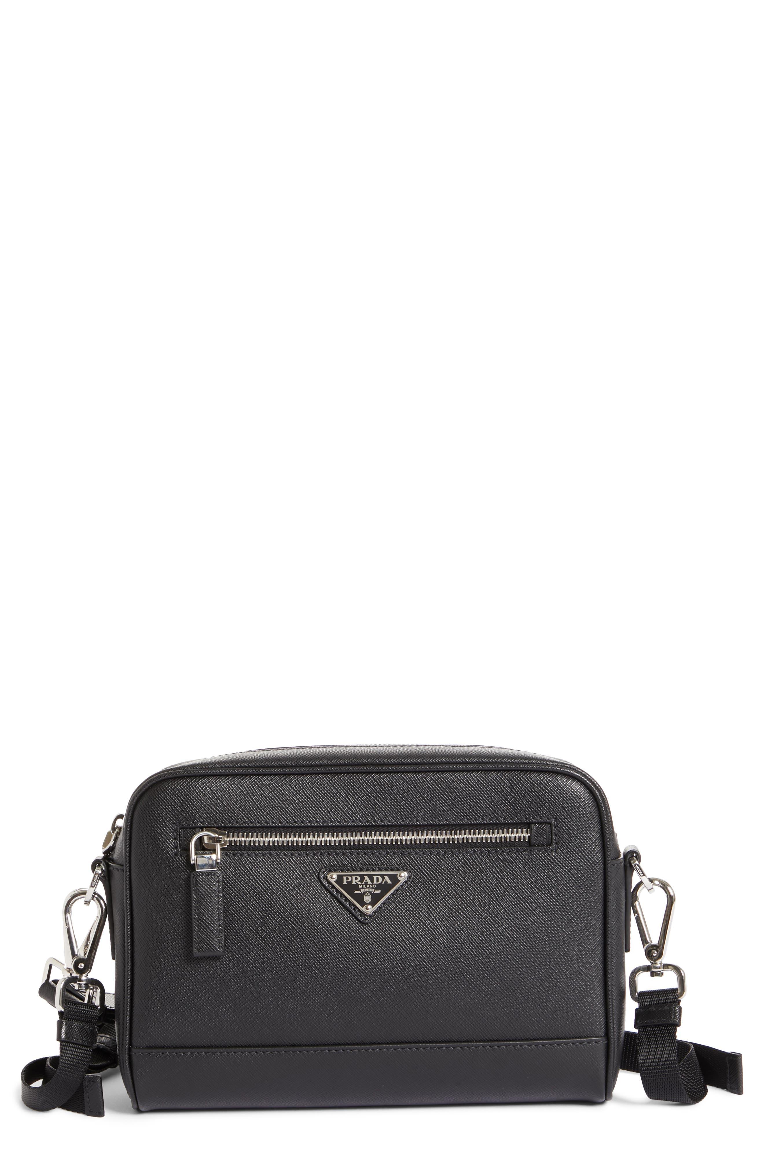 Saffiano Leather Travel Bag,                         Main,                         color, 001