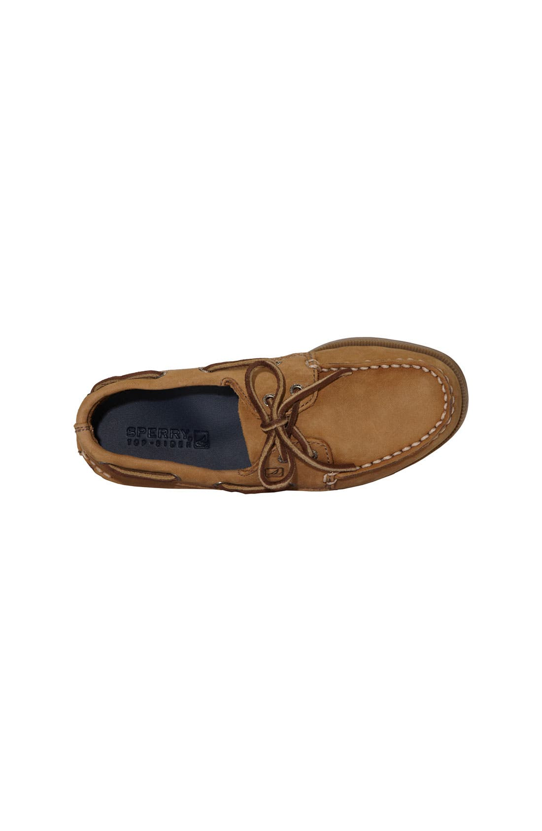 'Authentic Original' Boat Shoe,                             Alternate thumbnail 3, color,                             SAHARA LEATHER