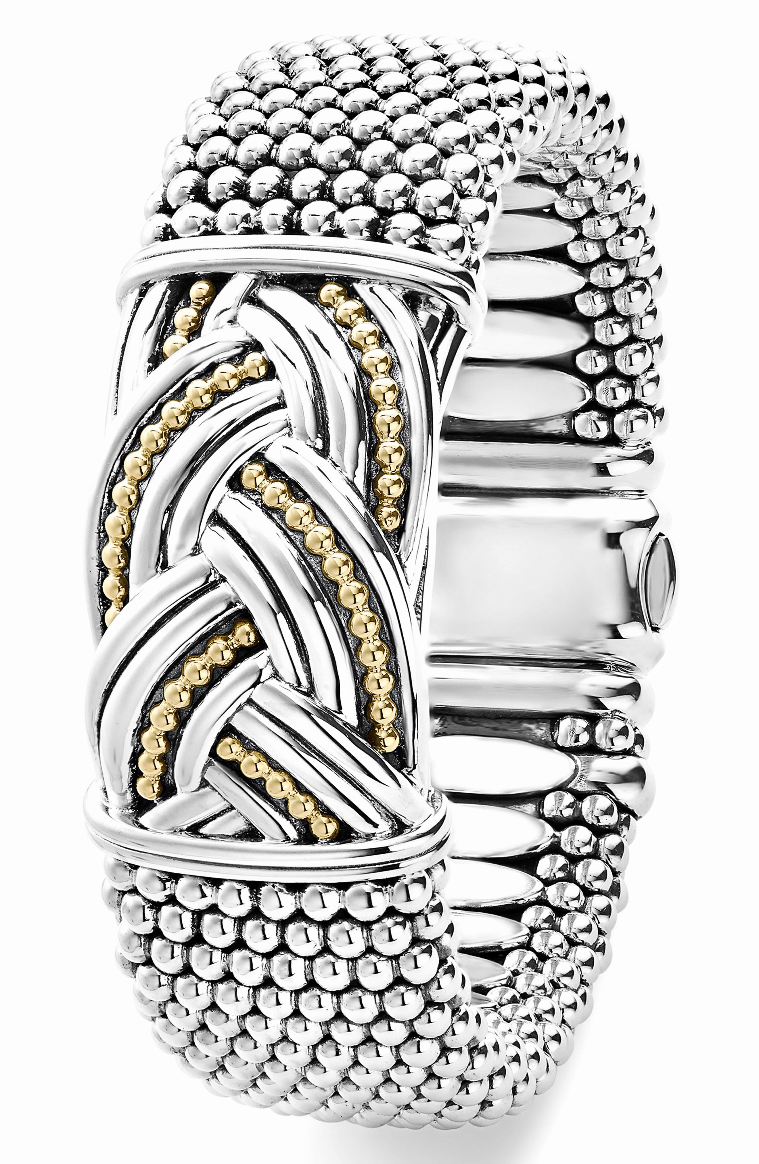 Torsade Wide Rope Bracelet,                             Alternate thumbnail 3, color,                             040