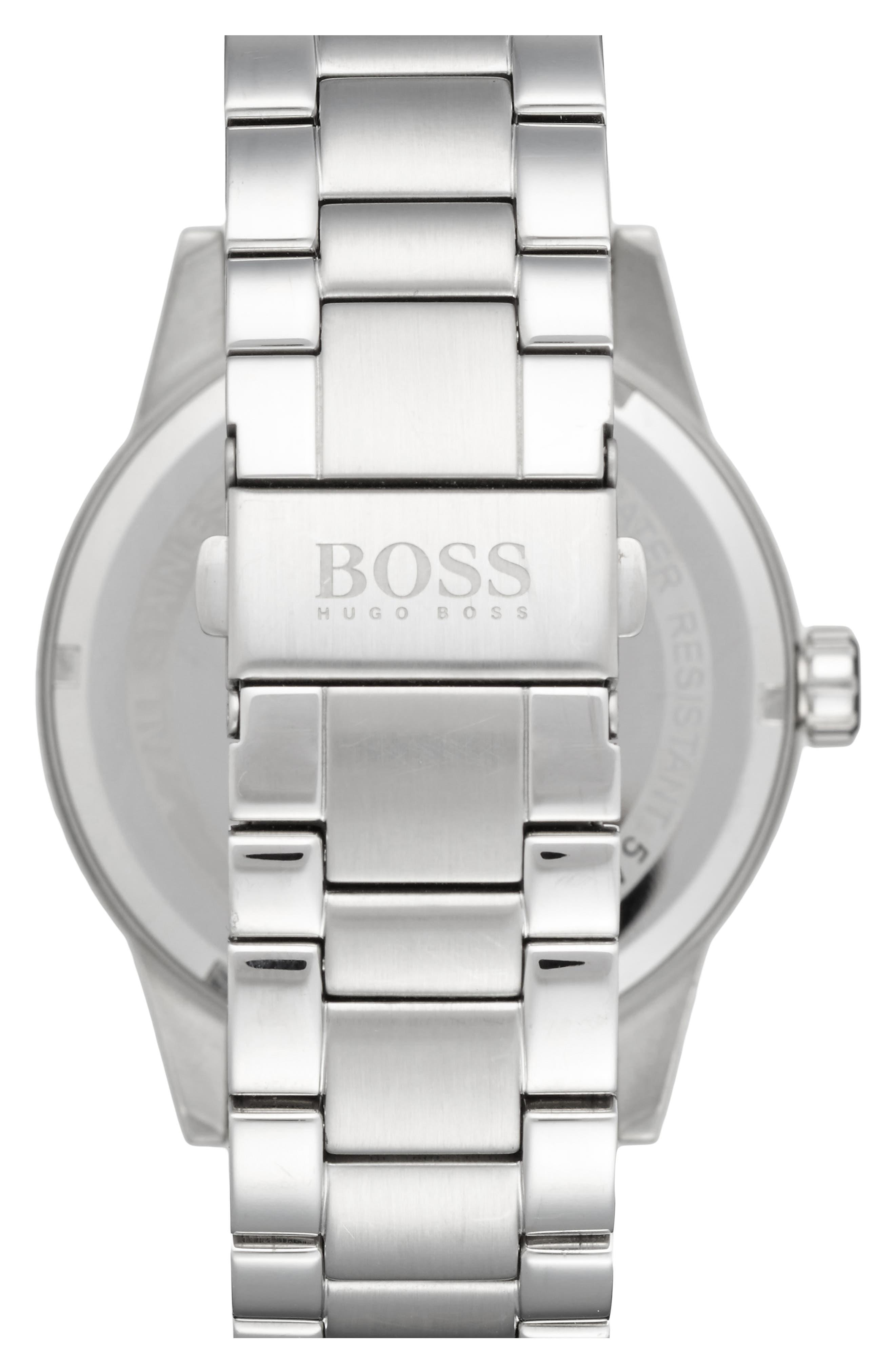 BOSS 'Pilot' Watch, 44mm,                             Alternate thumbnail 3, color,                             040