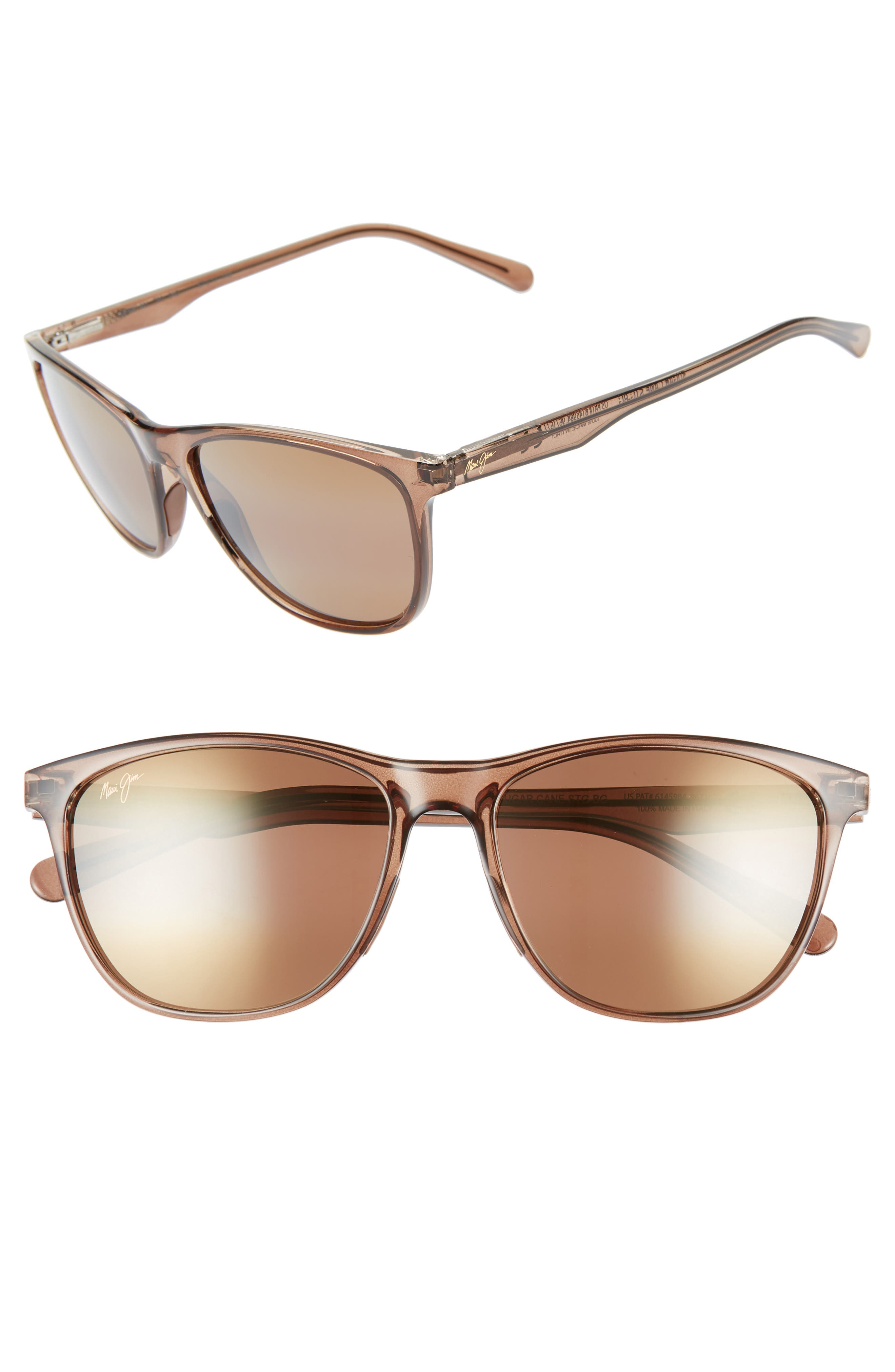 Sugar Cane 57Mm Polarizedplus2 Sunglasses - Transparent Mocha/ Hcl Bronze