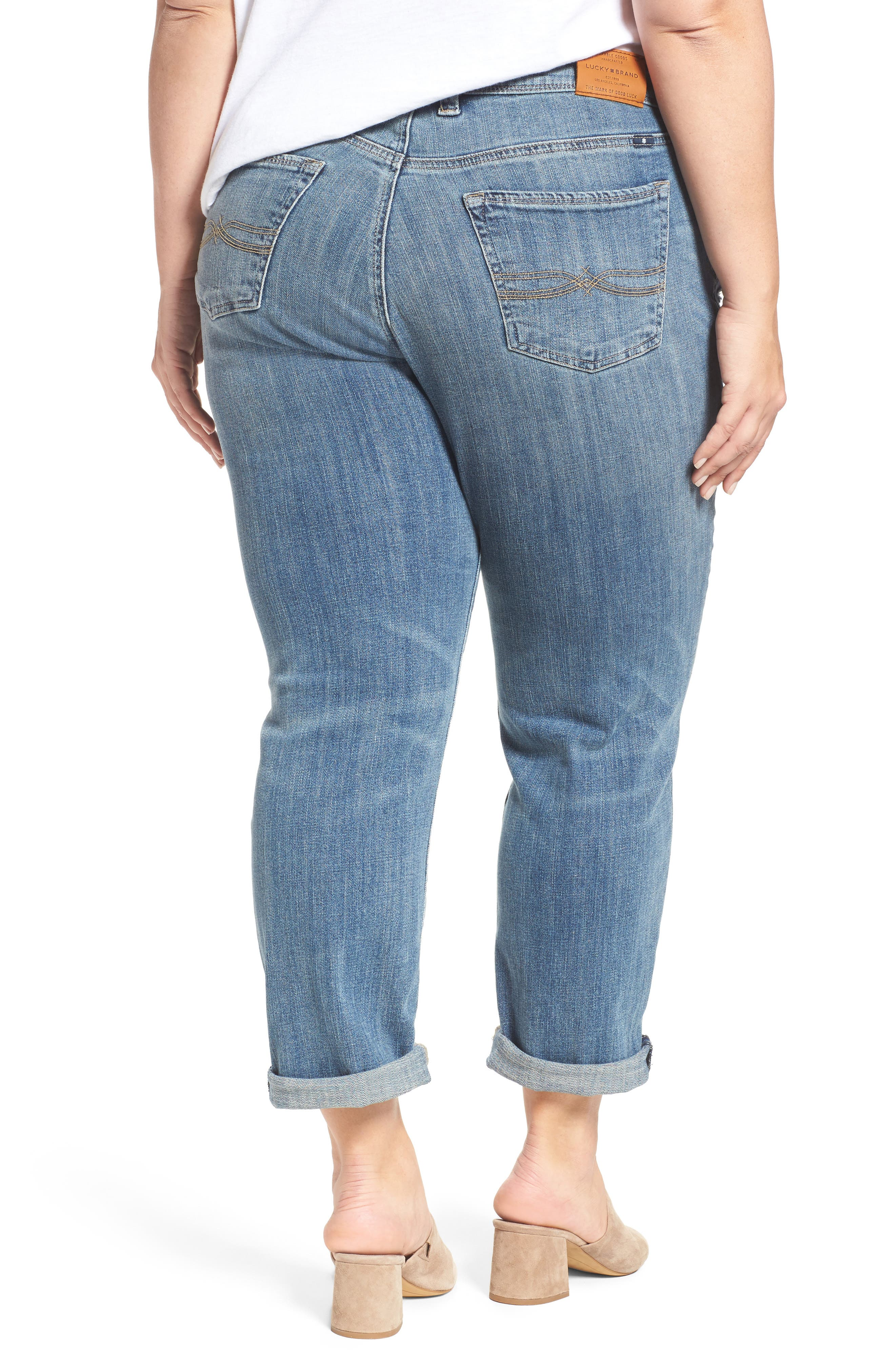 Reese Distressed Stretch Boyfriend Jeans,                             Alternate thumbnail 2, color,                             420