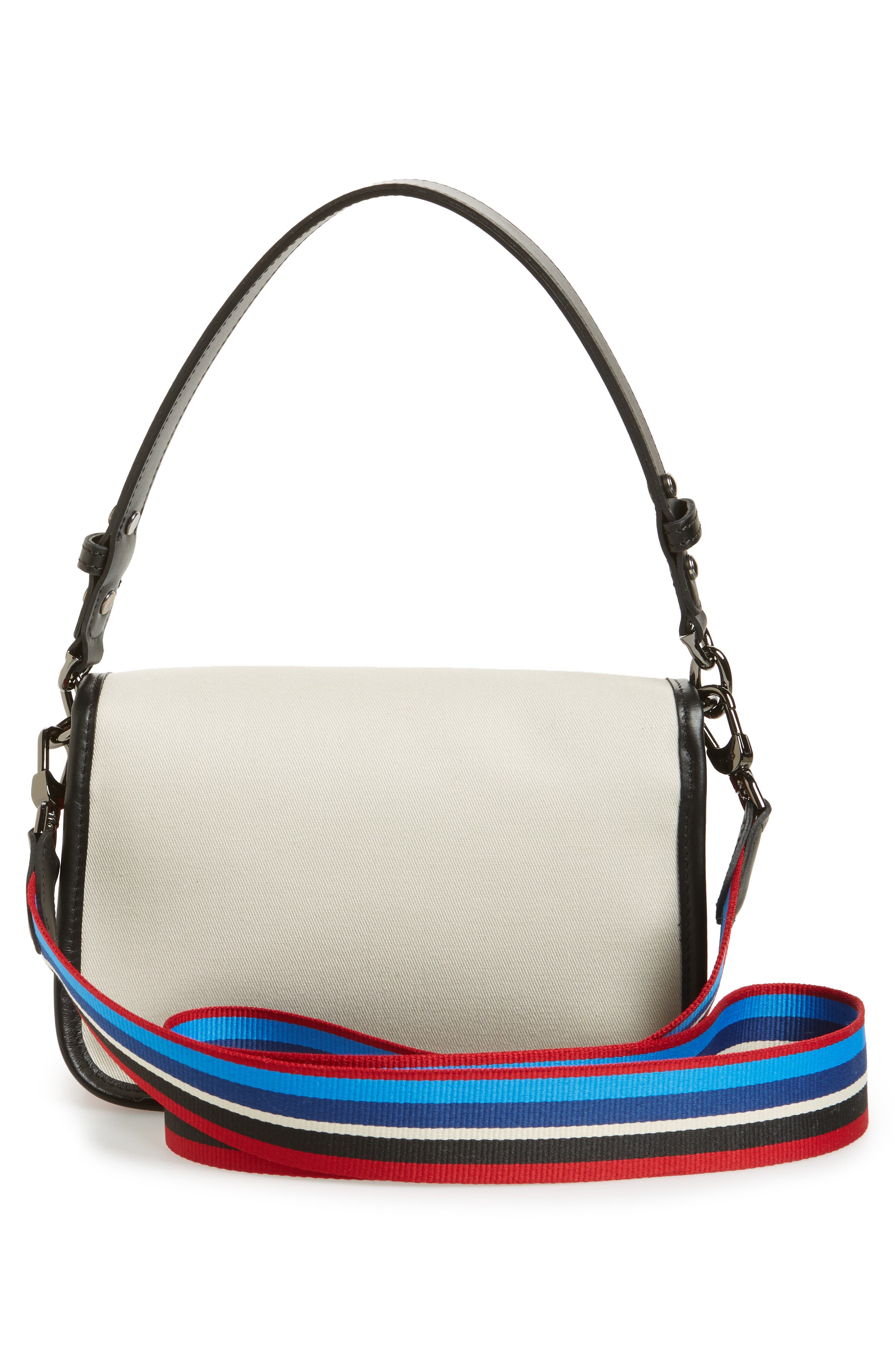 Small Mademoiselle Gabardine Canvas Shoulder Bag,                             Alternate thumbnail 3, color,