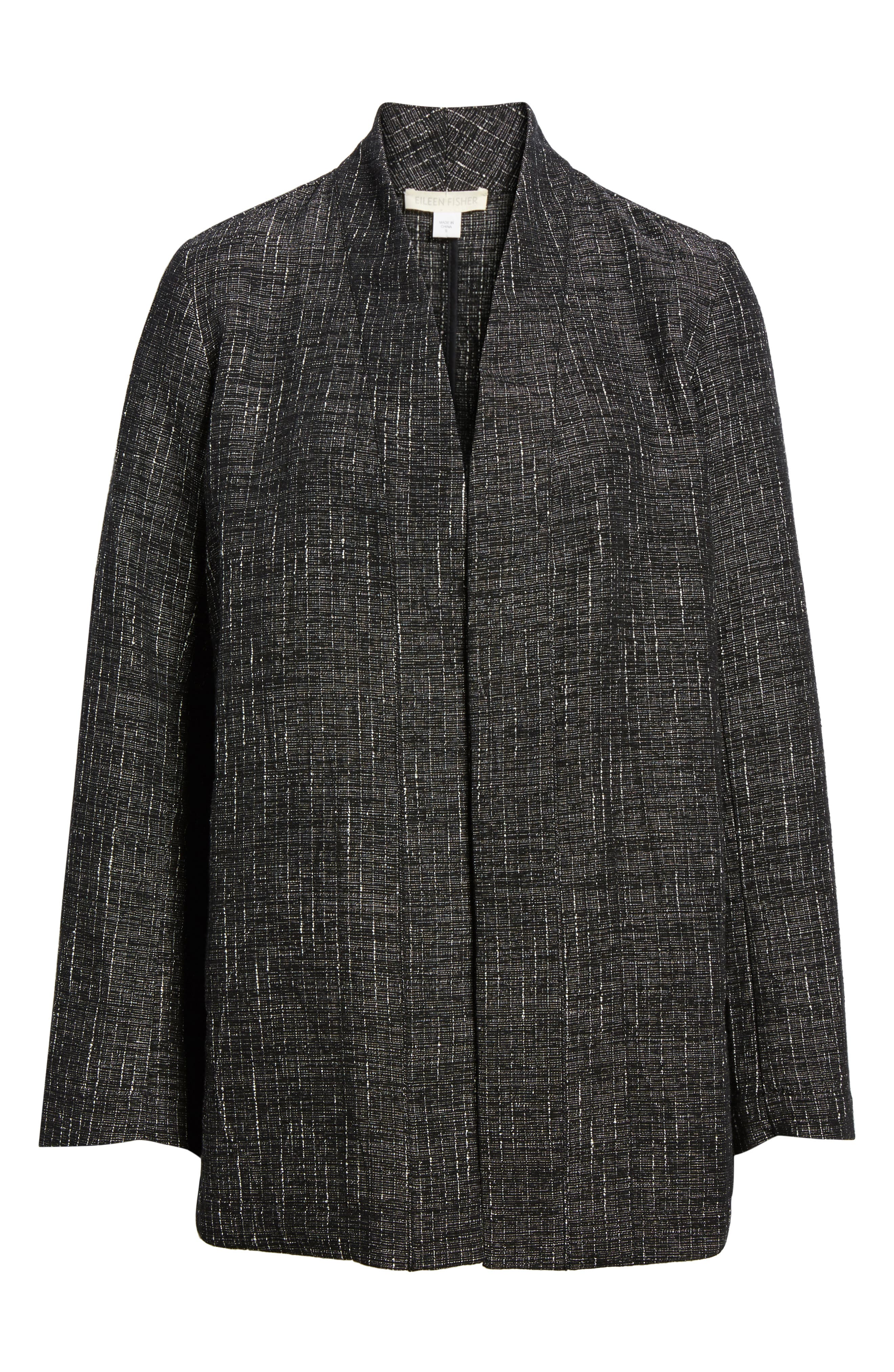 Stand Collar Kimono Jacket,                             Alternate thumbnail 5, color,                             001