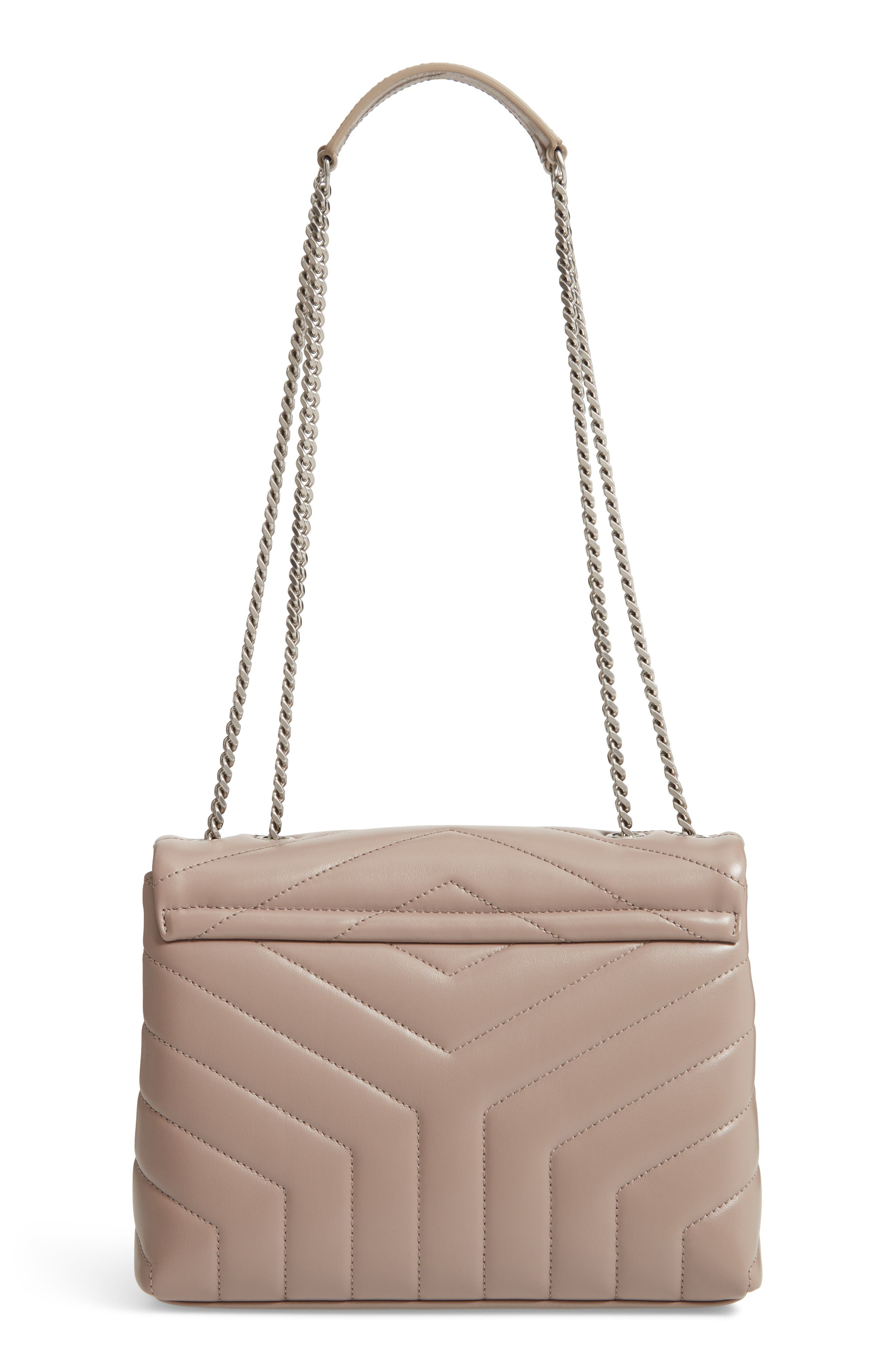 Small Loulou Matelassé Leather Shoulder Bag,                             Alternate thumbnail 3, color,                             TAUPE SABLE