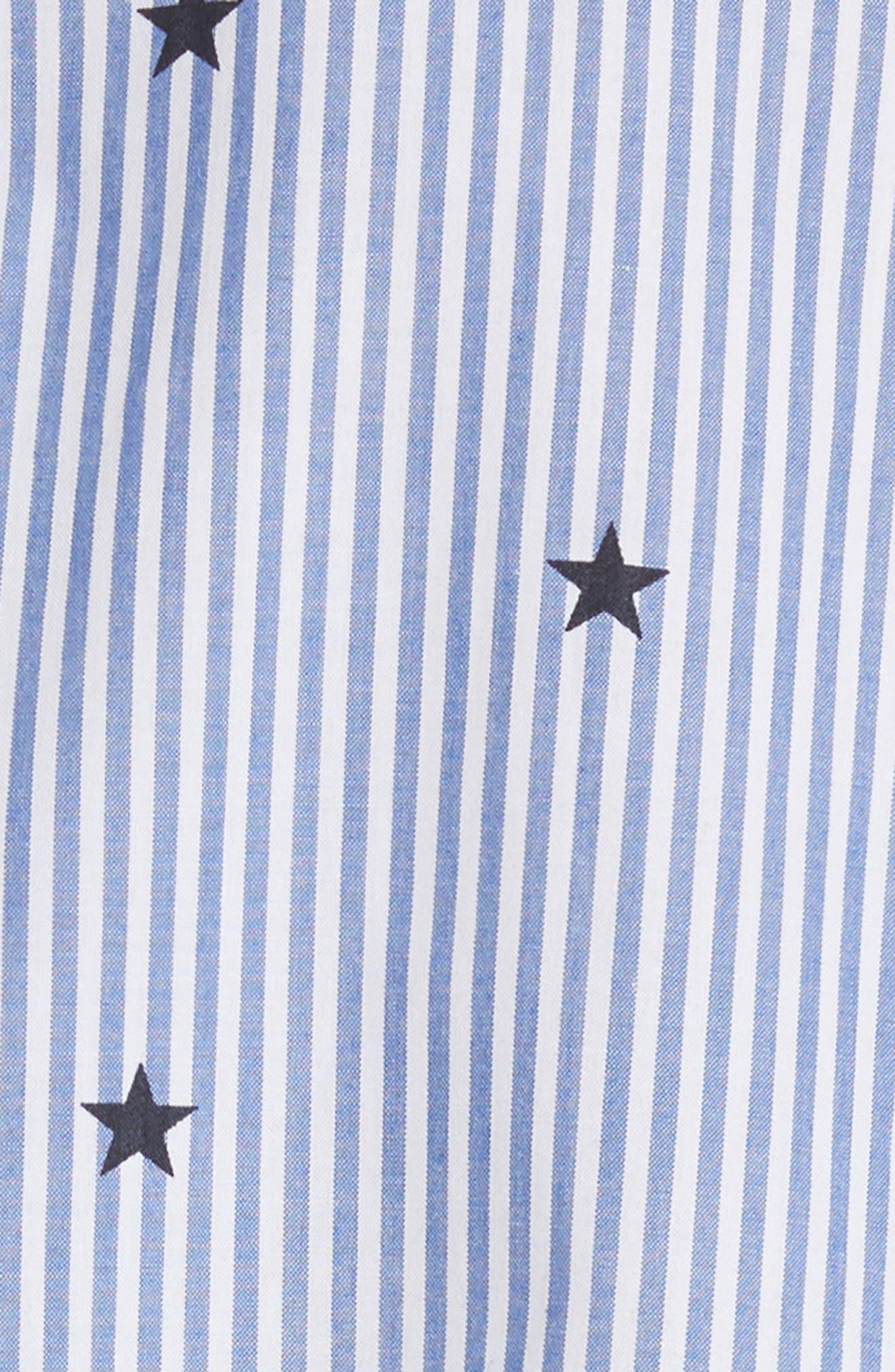 twinkle stripe poplin shirt,                             Alternate thumbnail 5, color,                             491