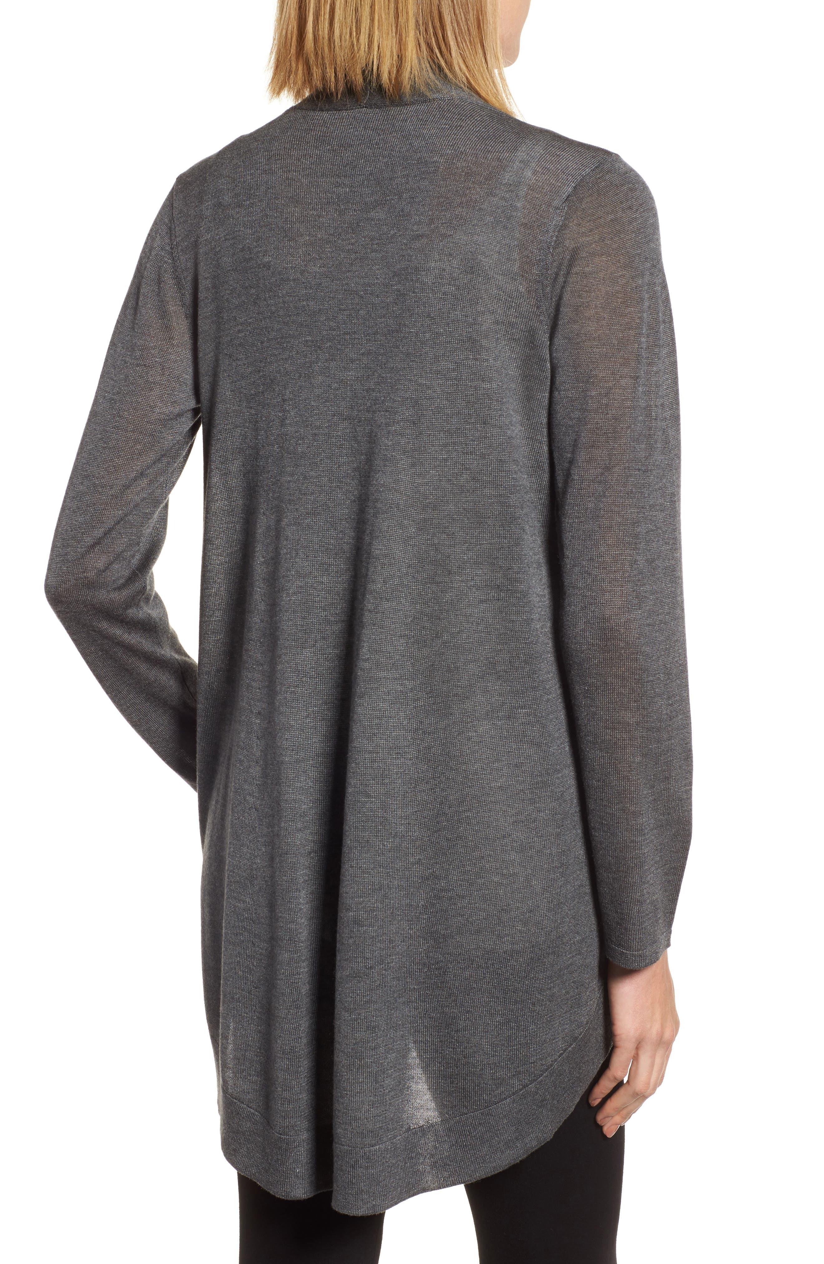 Tencel<sup>®</sup> Lyocell & Merino Wool Shaped Cardigan,                             Alternate thumbnail 2, color,                             030
