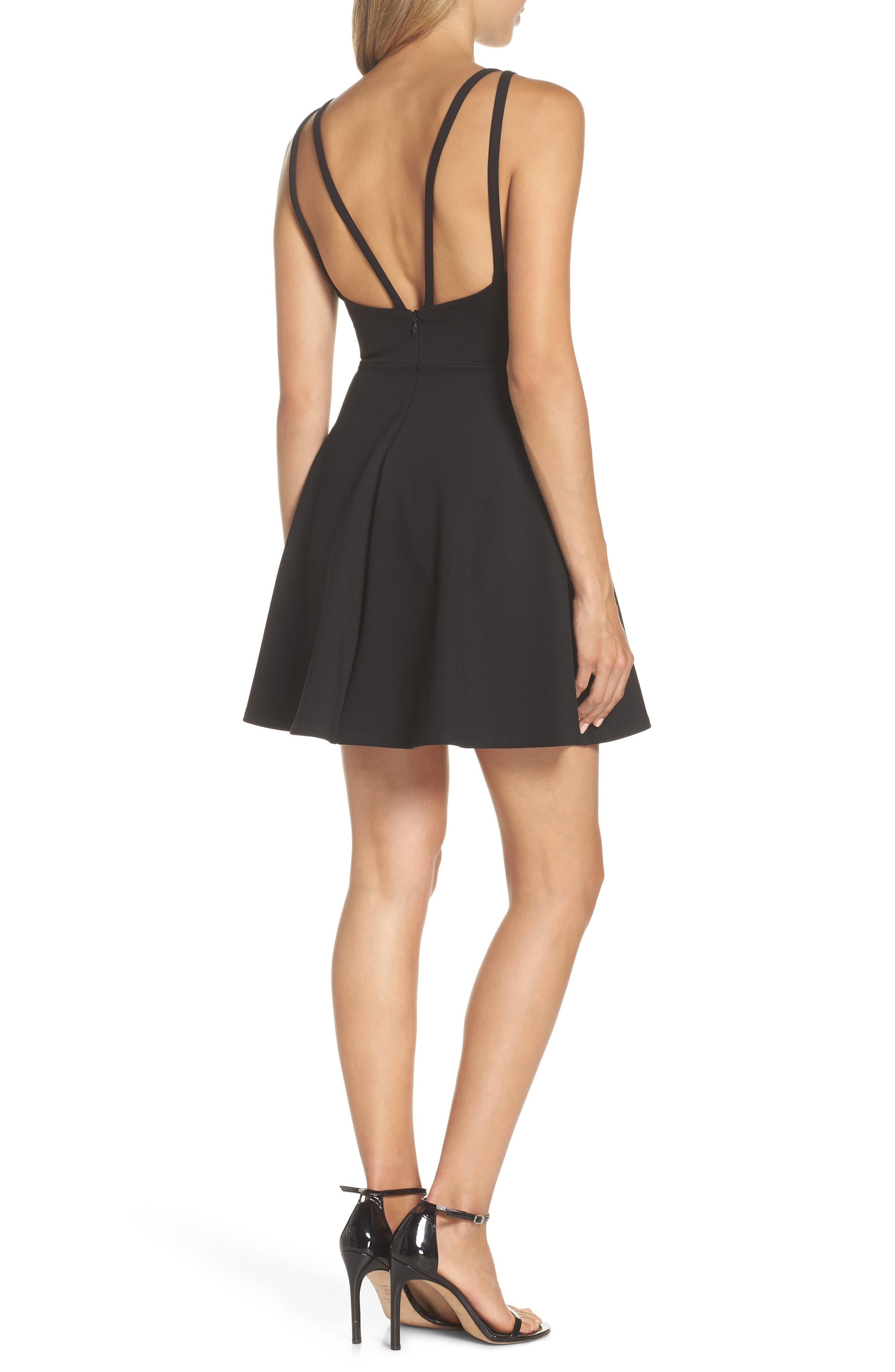 Love Galore Skater Dress,                             Alternate thumbnail 2, color,                             BLACK