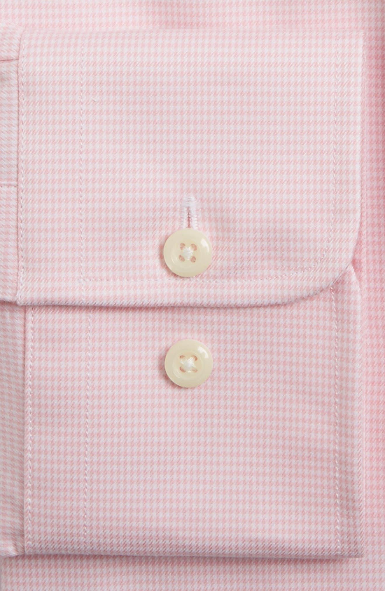 Regular Fit Houndstooth Dress Shirt,                             Alternate thumbnail 3, color,                             650