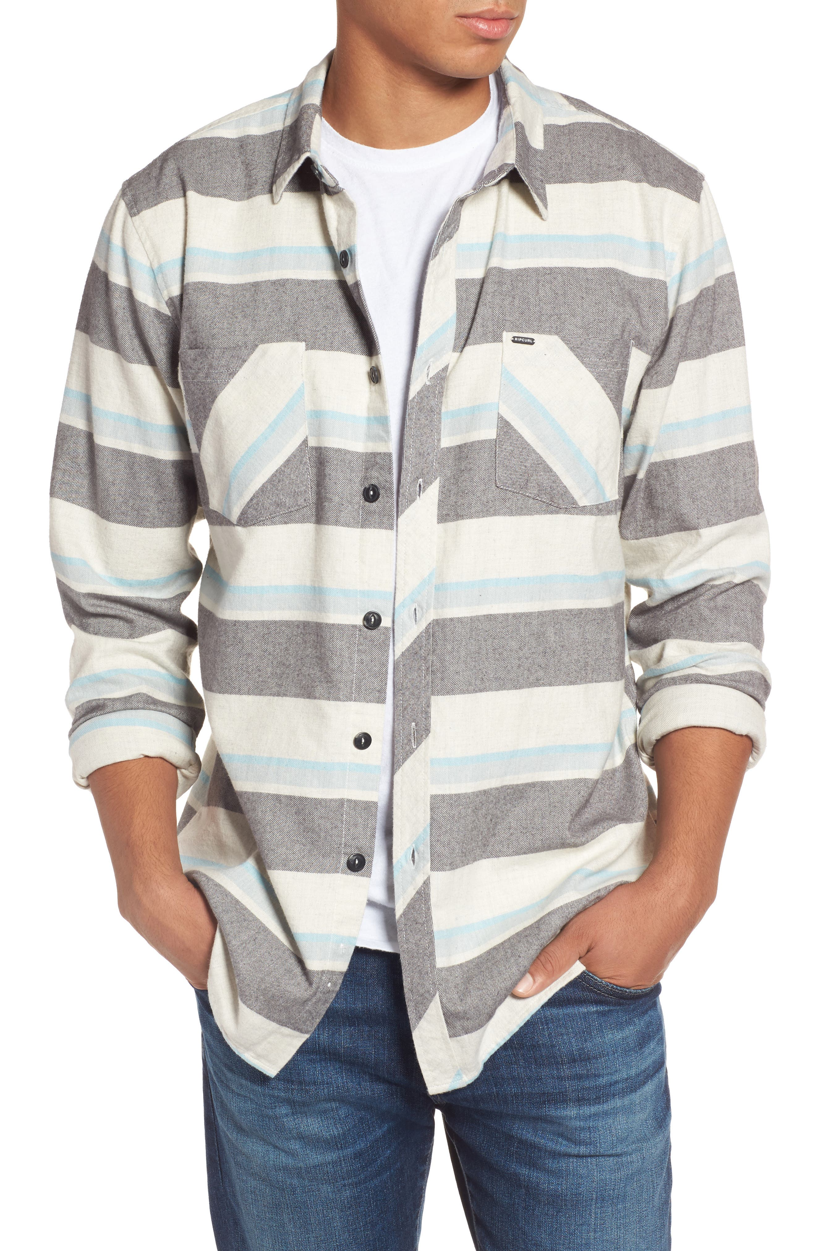 Seager Flannel Shirt,                             Main thumbnail 1, color,