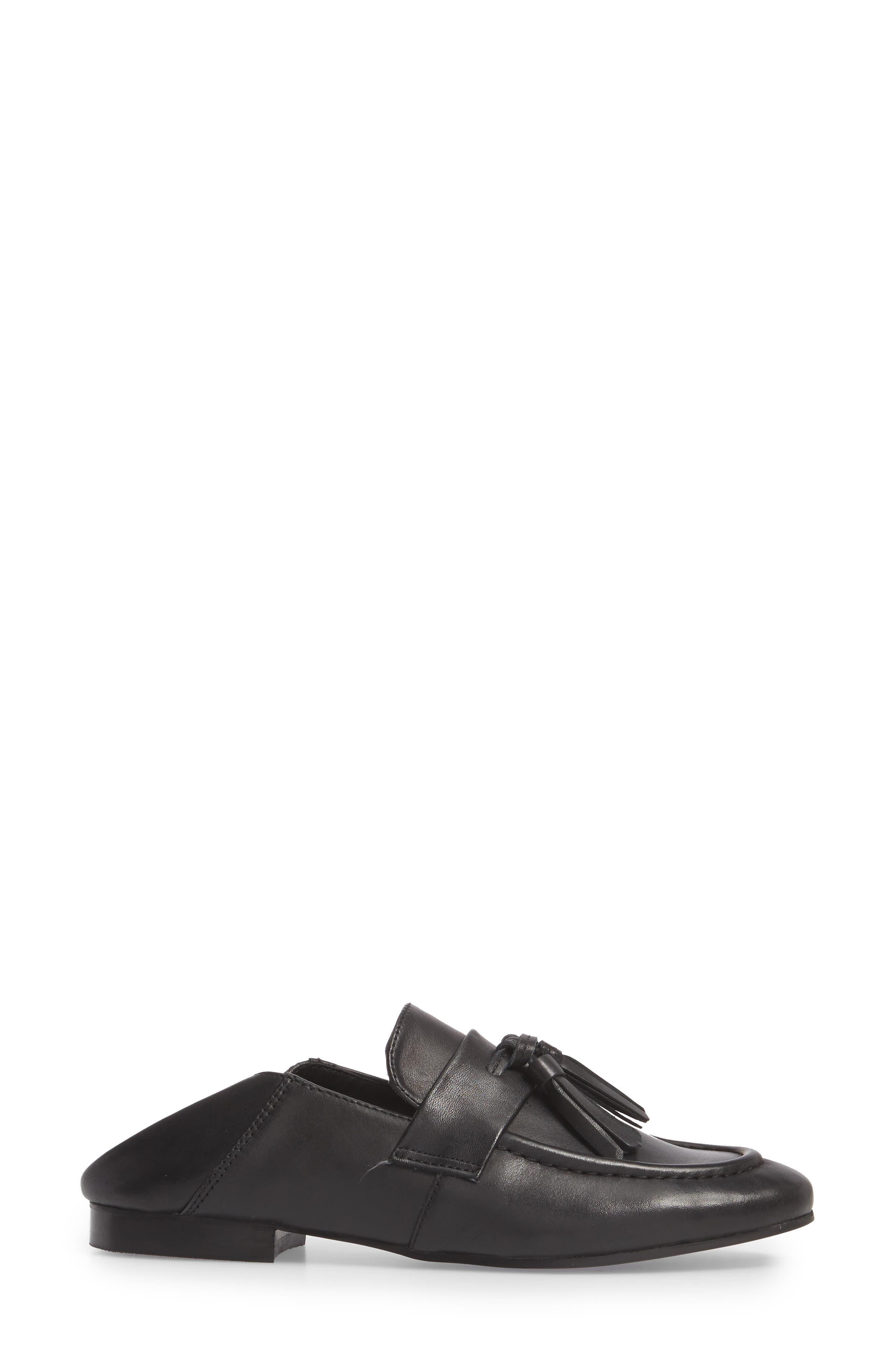 Beck Convertible Tasseled Loafer,                             Alternate thumbnail 7, color,                             001