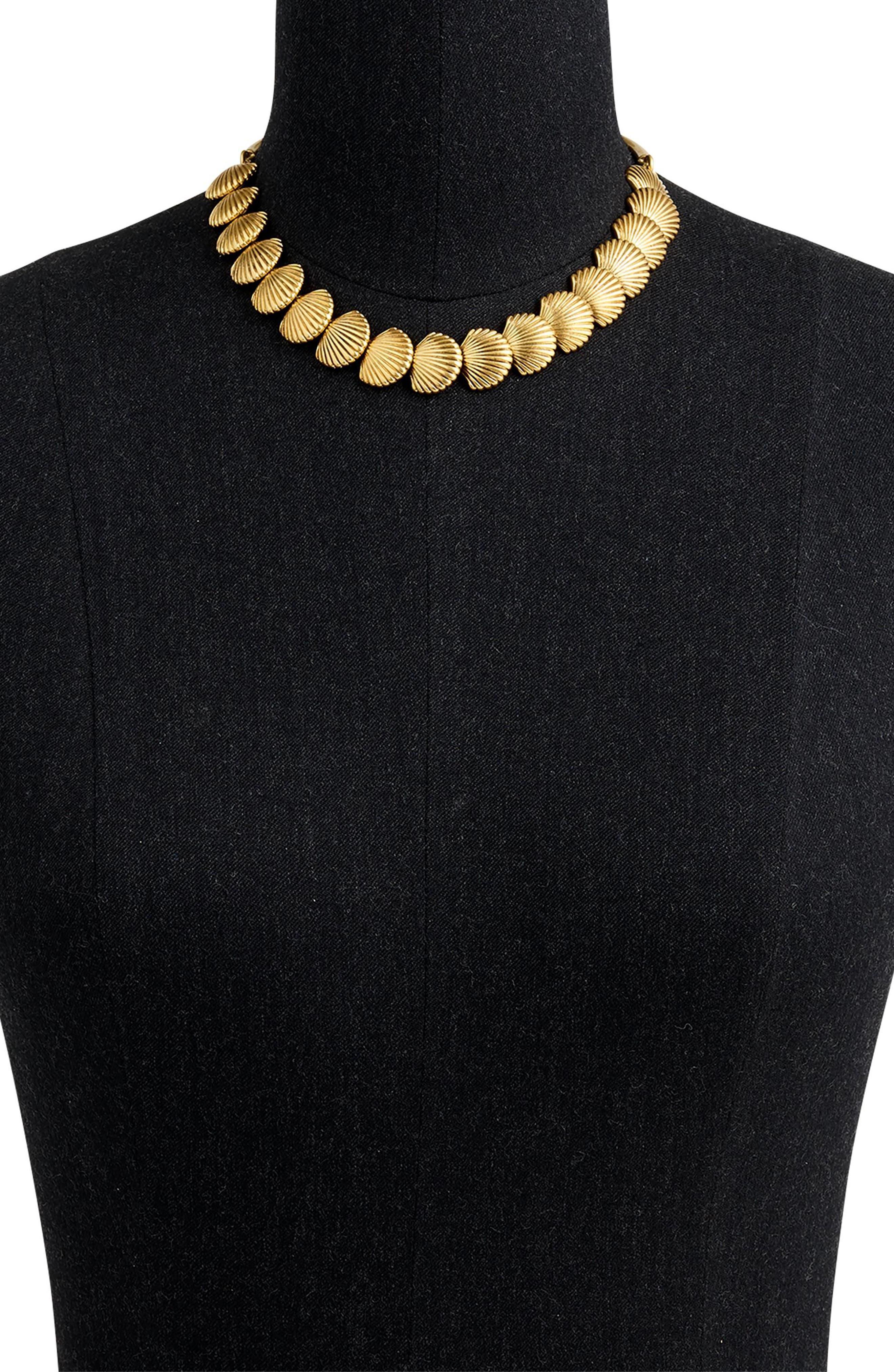 J.CREW,                             Seashell Collar Necklace,                             Alternate thumbnail 2, color,                             710