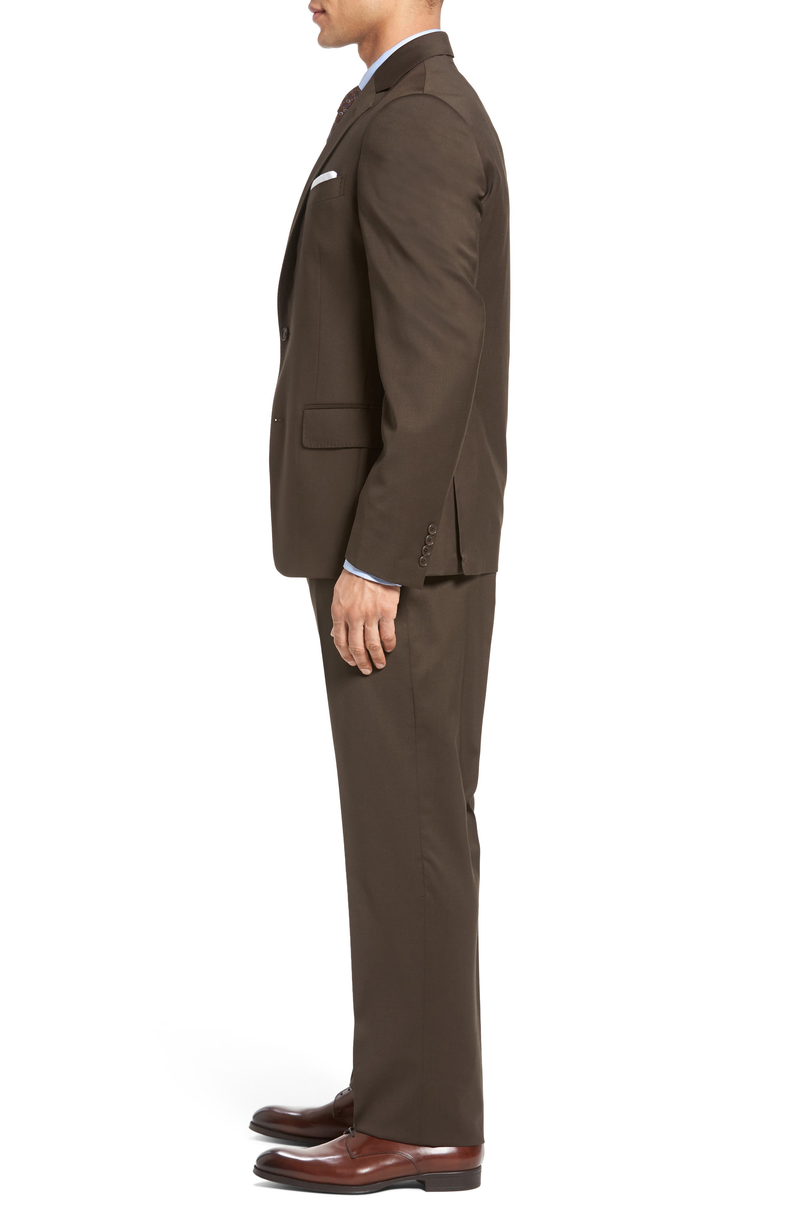 Classic Fit Solid Wool Suit,                             Alternate thumbnail 15, color,