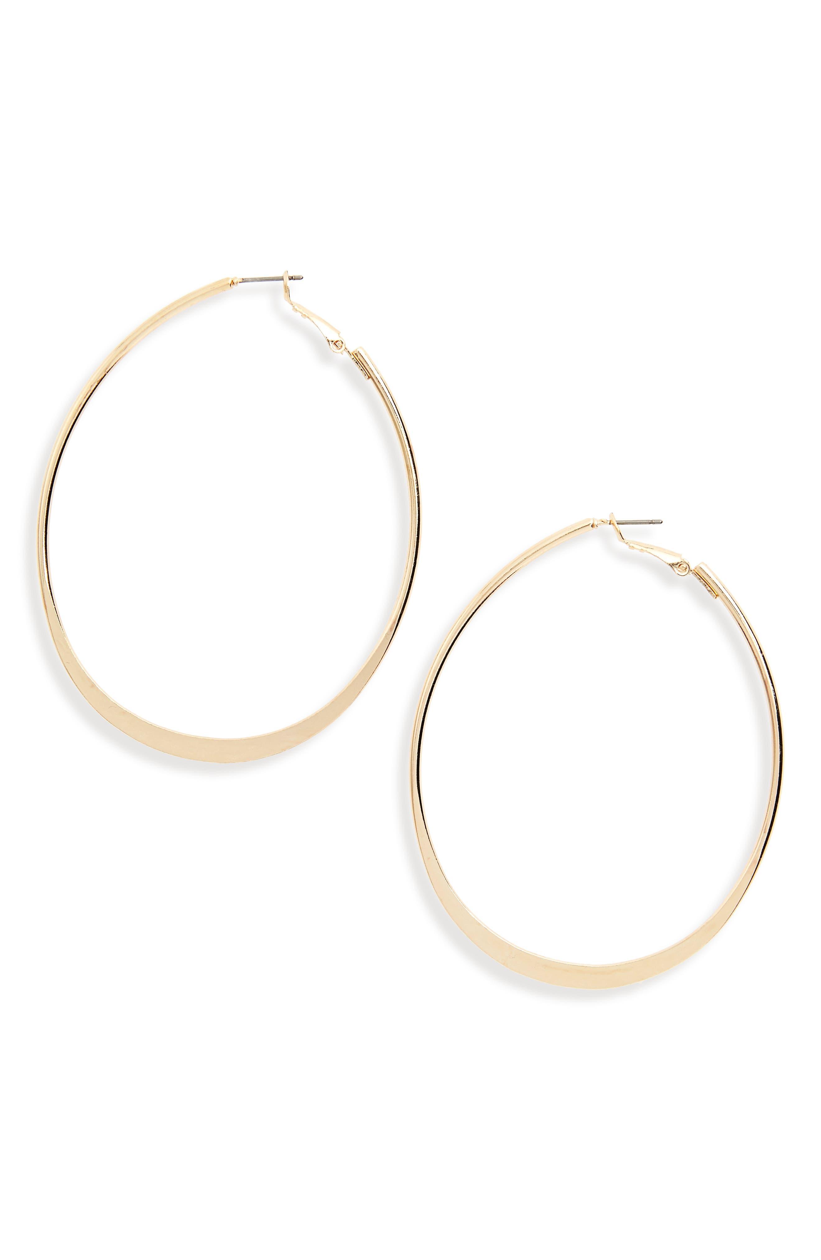 Oval Hoop Earrings,                             Main thumbnail 2, color,