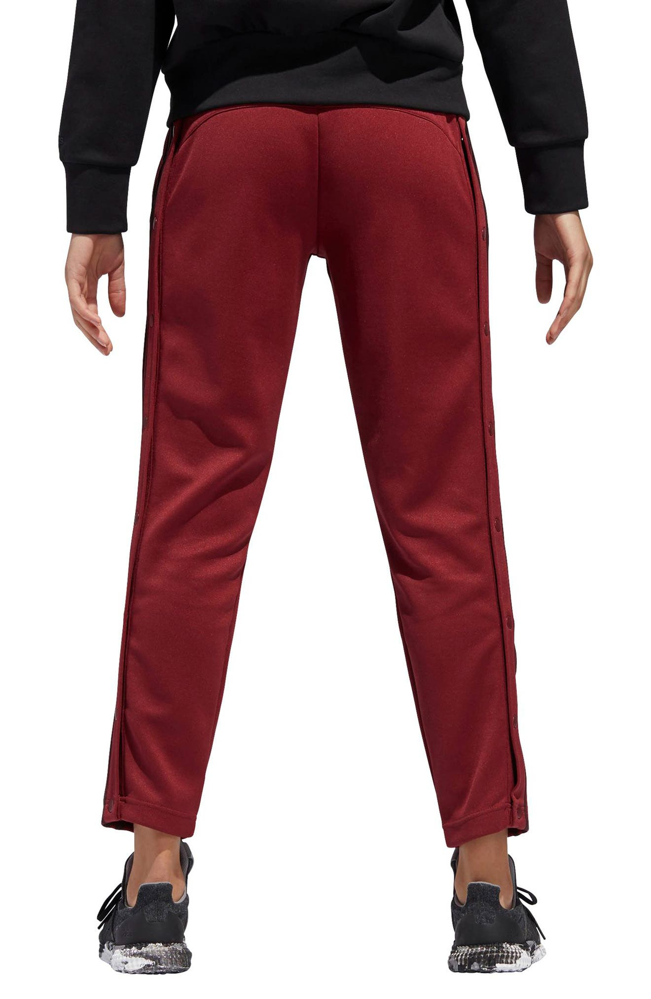 Tricot Snap Pants,                             Alternate thumbnail 3, color,                             NOBLE MAROON/ NIGHT RED