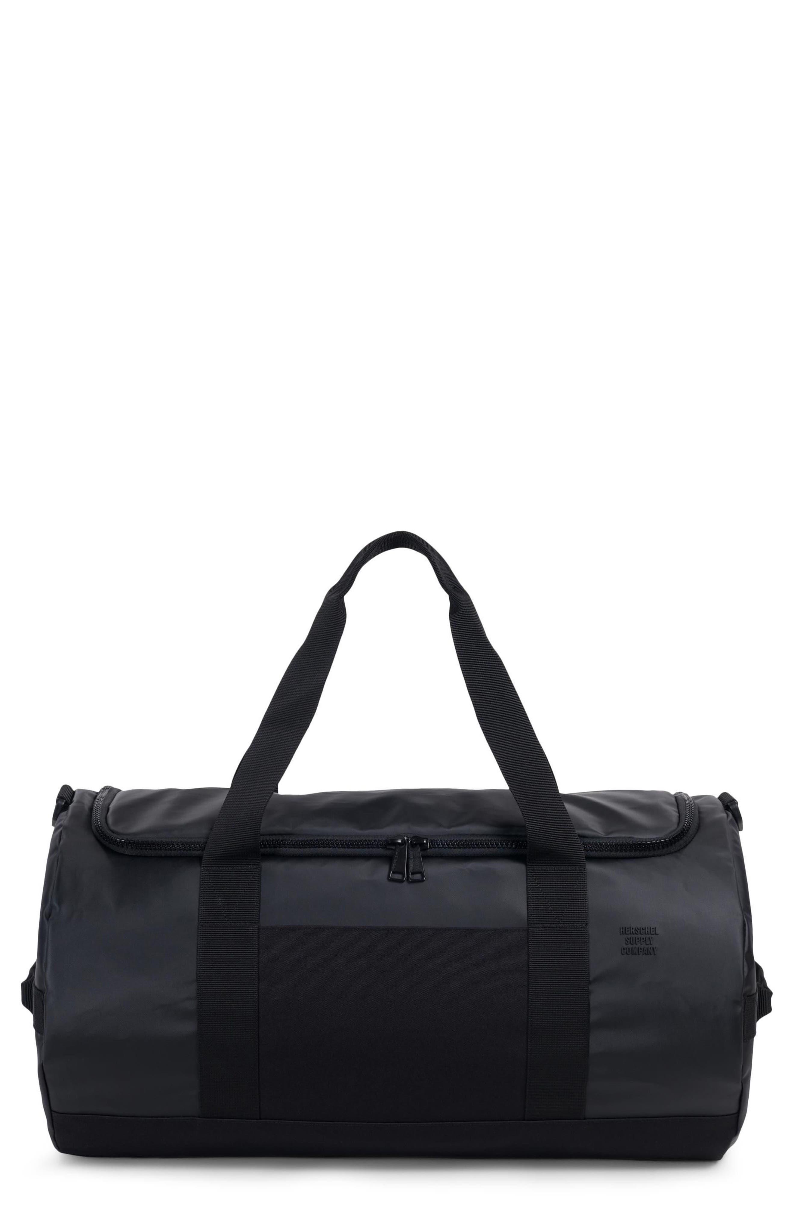 Sutton Polycoat Studio Duffel Bag,                             Main thumbnail 1, color,                             BLACK