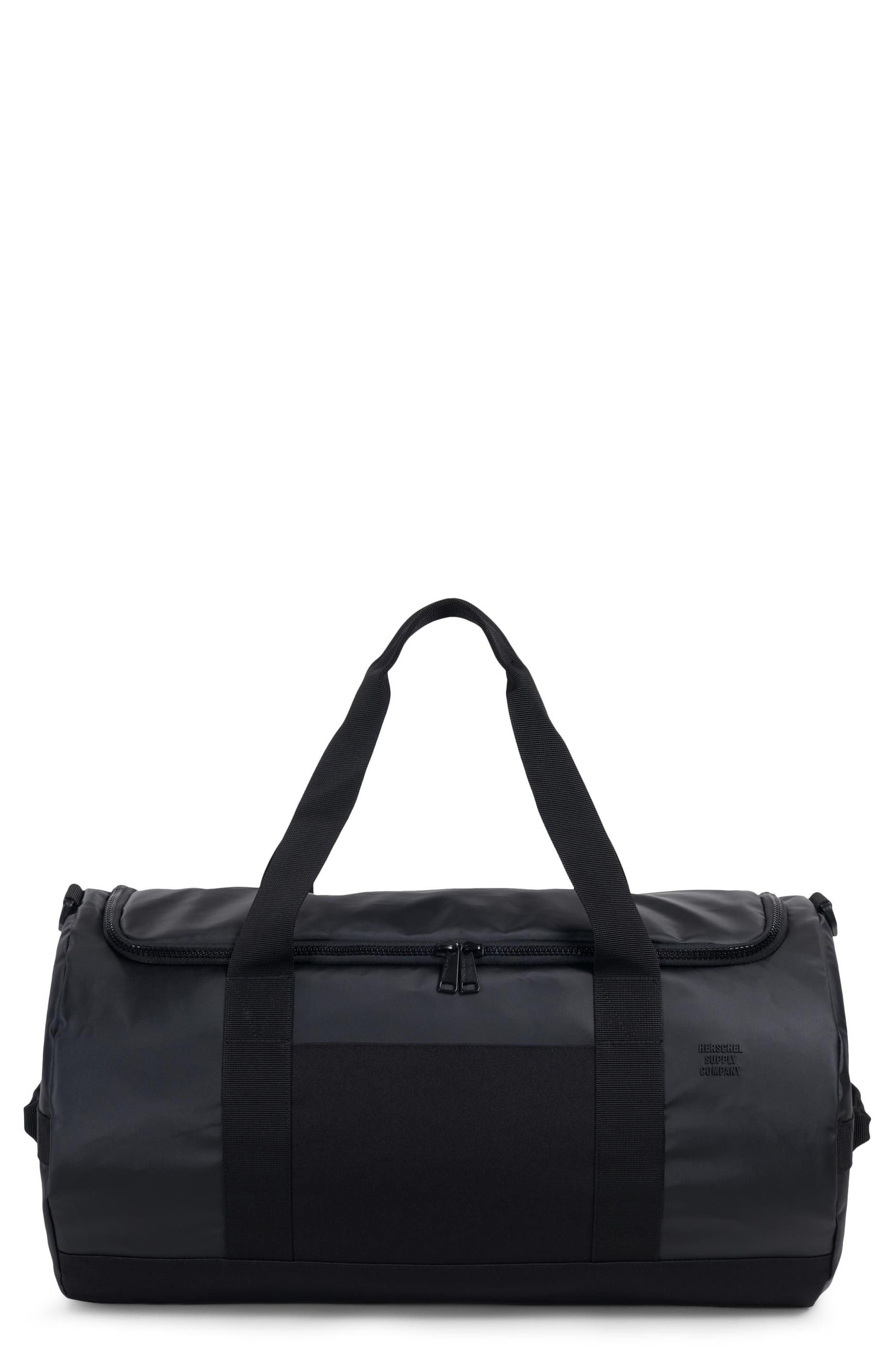 Sutton Polycoat Studio Duffel Bag,                         Main,                         color, BLACK