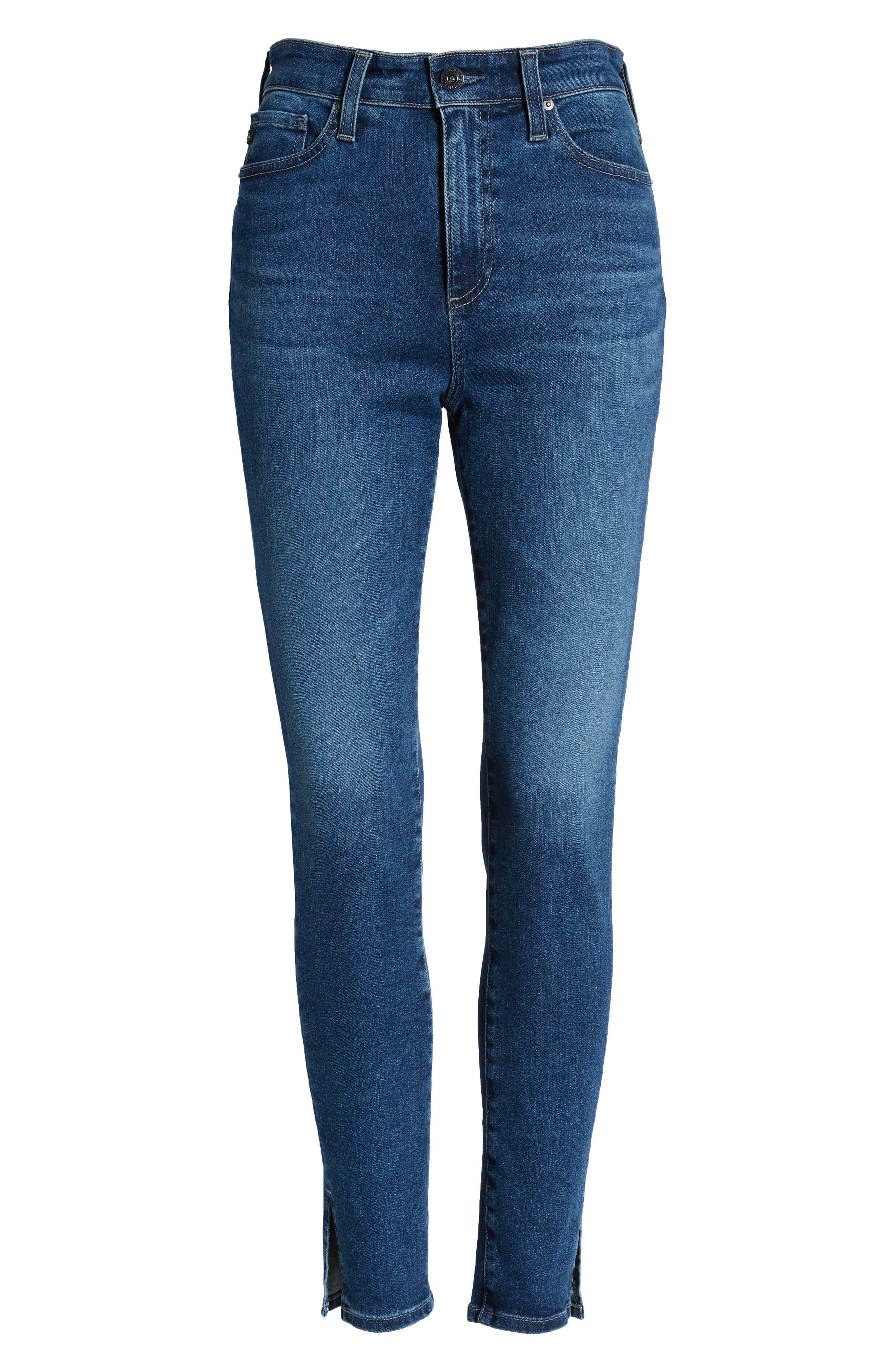 AG,                             The Mila Super High Waist Ankle Skinny Jeans,                             Alternate thumbnail 7, color,                             CRYSTAL CLARITY
