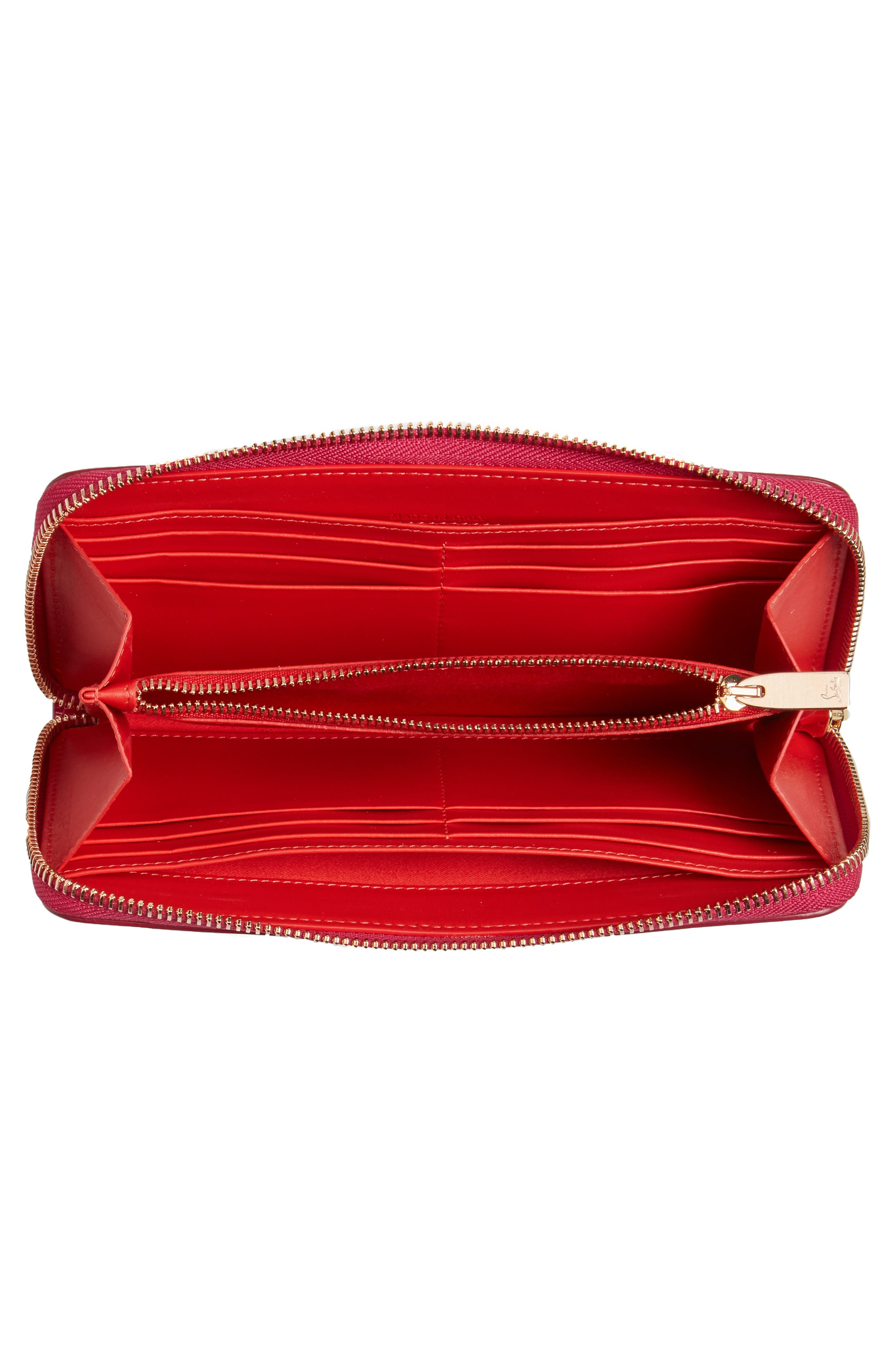 Panettone Spiked Patent Leather Wallet,                             Alternate thumbnail 4, color,                             693