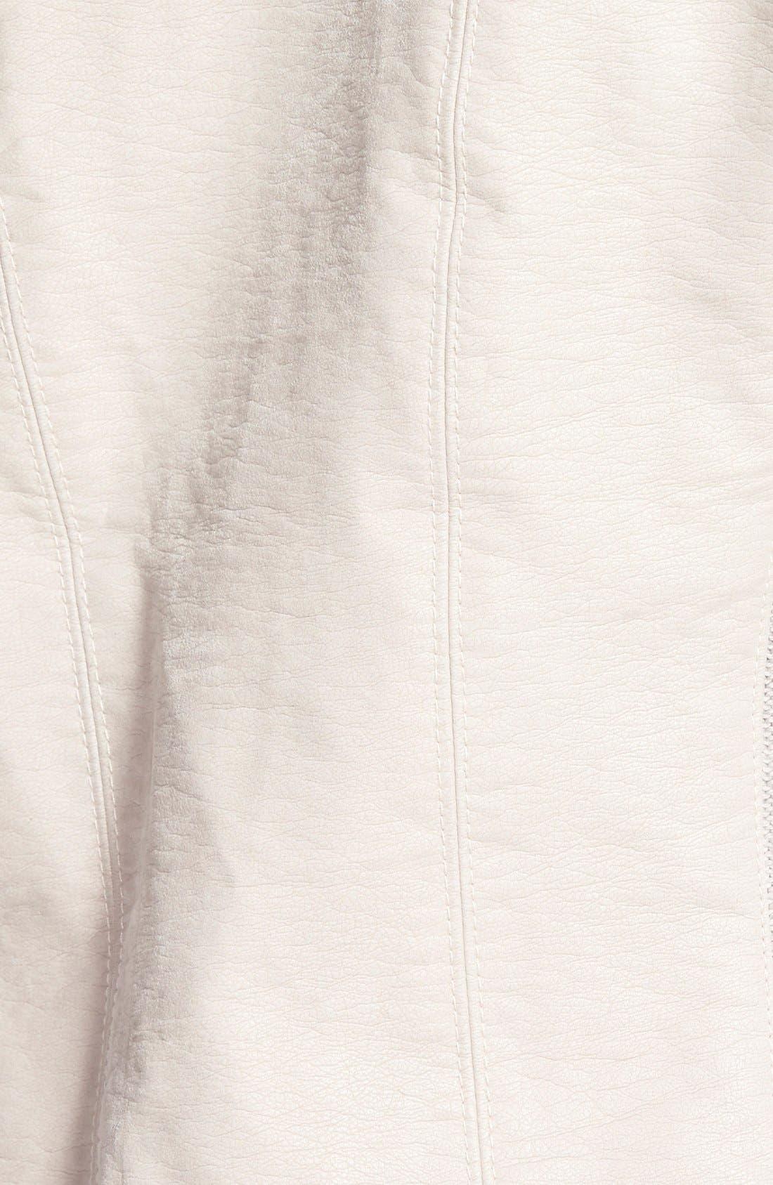 Faux Leather Jacket,                             Alternate thumbnail 23, color,