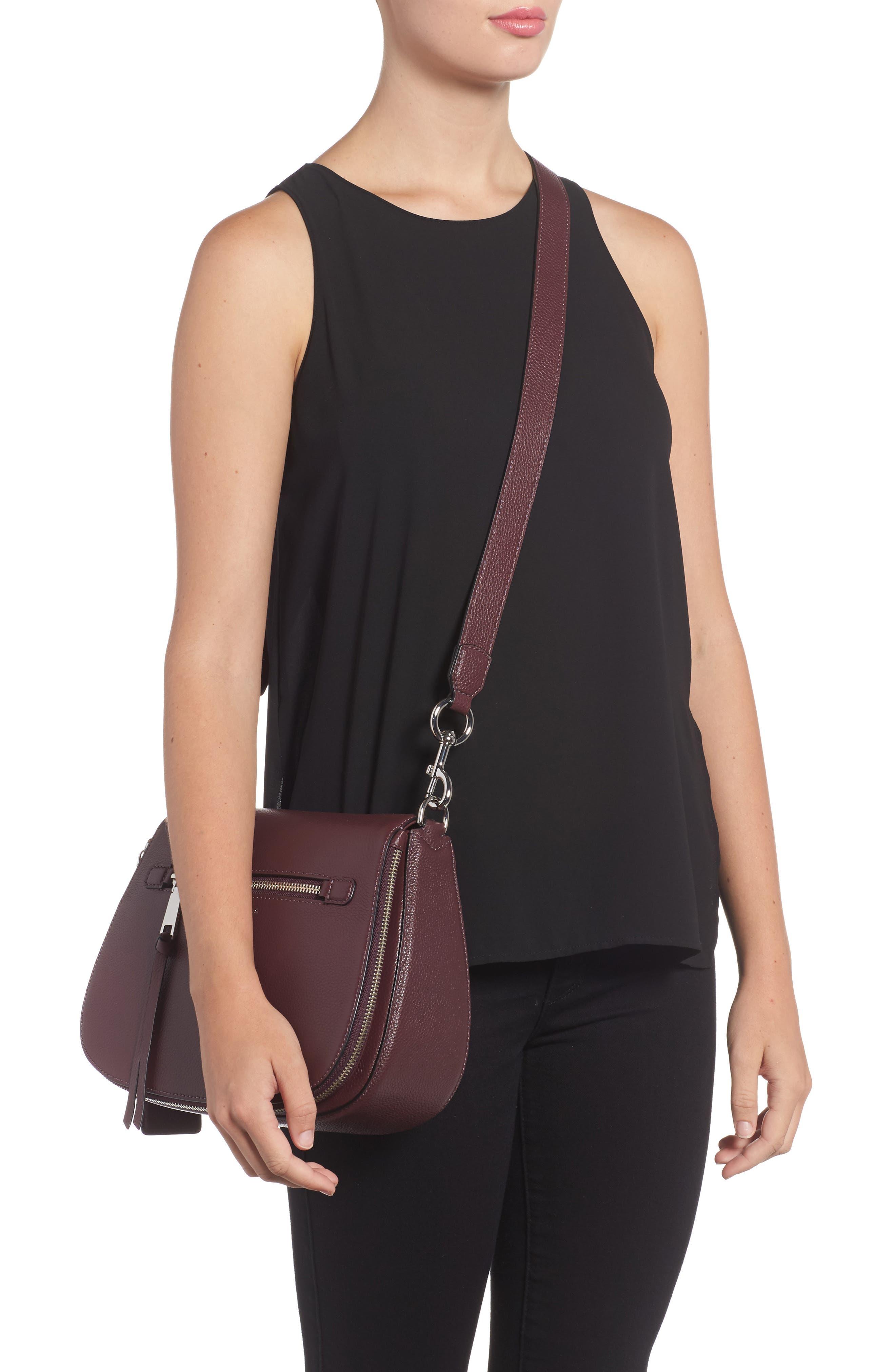 Recruit Nomad Pebbled Leather Crossbody Bag,                             Alternate thumbnail 2, color,                             538